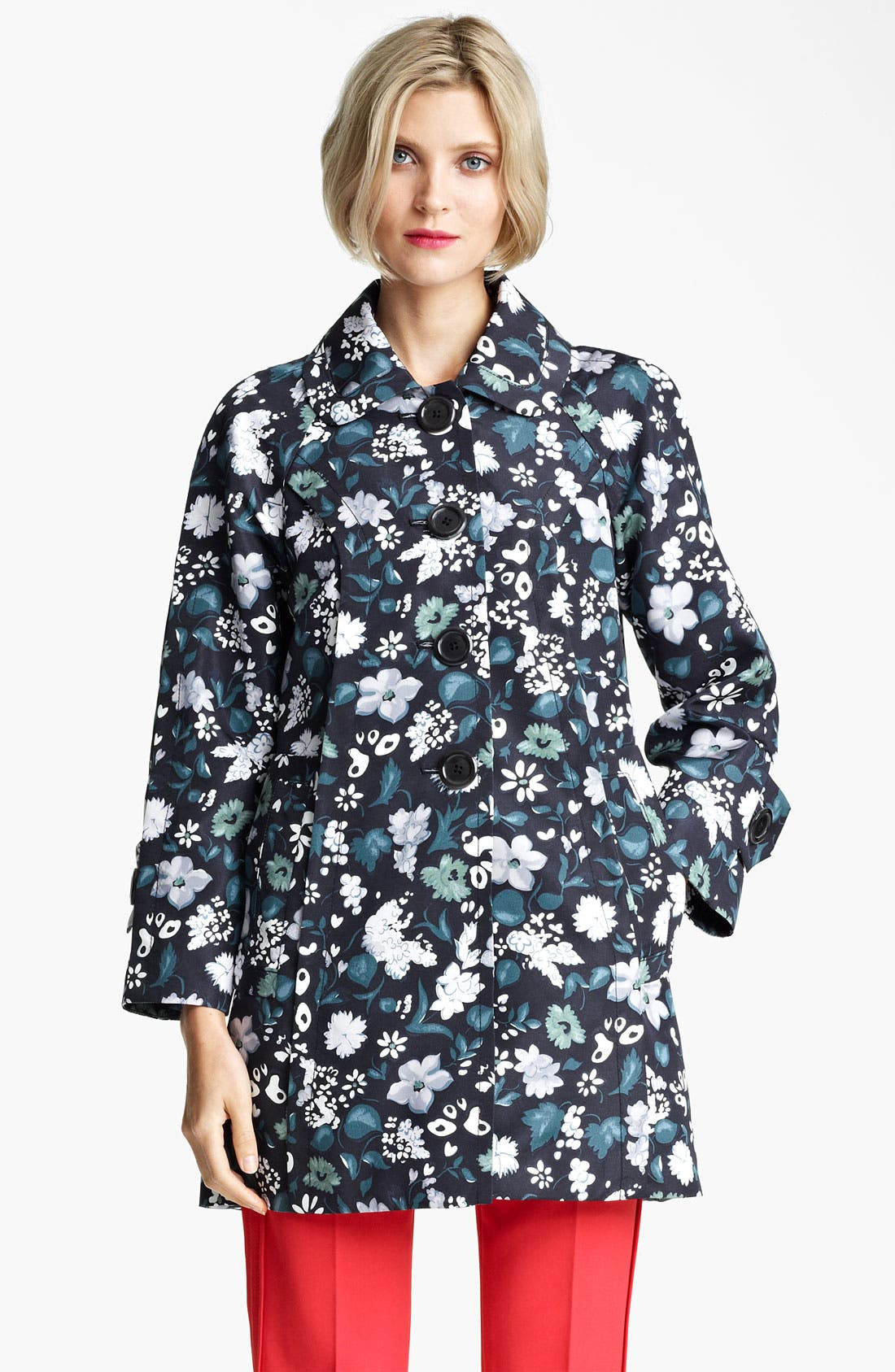Alternate Image 1 Selected - MARC JACOBS Flower & Butterfly Print Coat