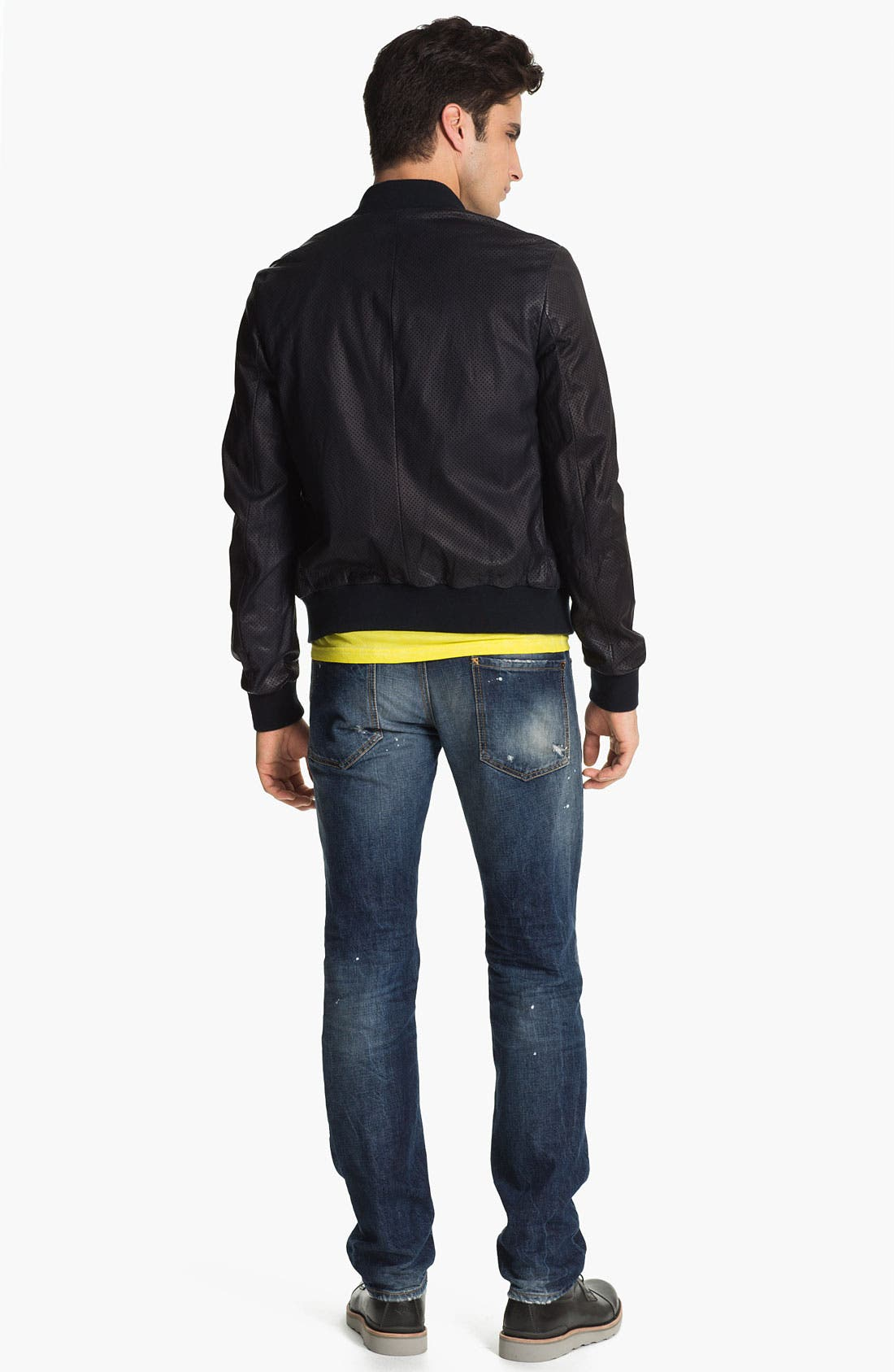 Alternate Image 6  - Dsquared2 Slim Fit Jeans (Distressed Blue)