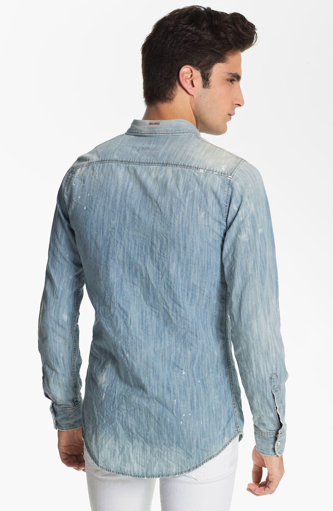 Alternate Image 2  - Dsquared2 Washed Chambray Shirt