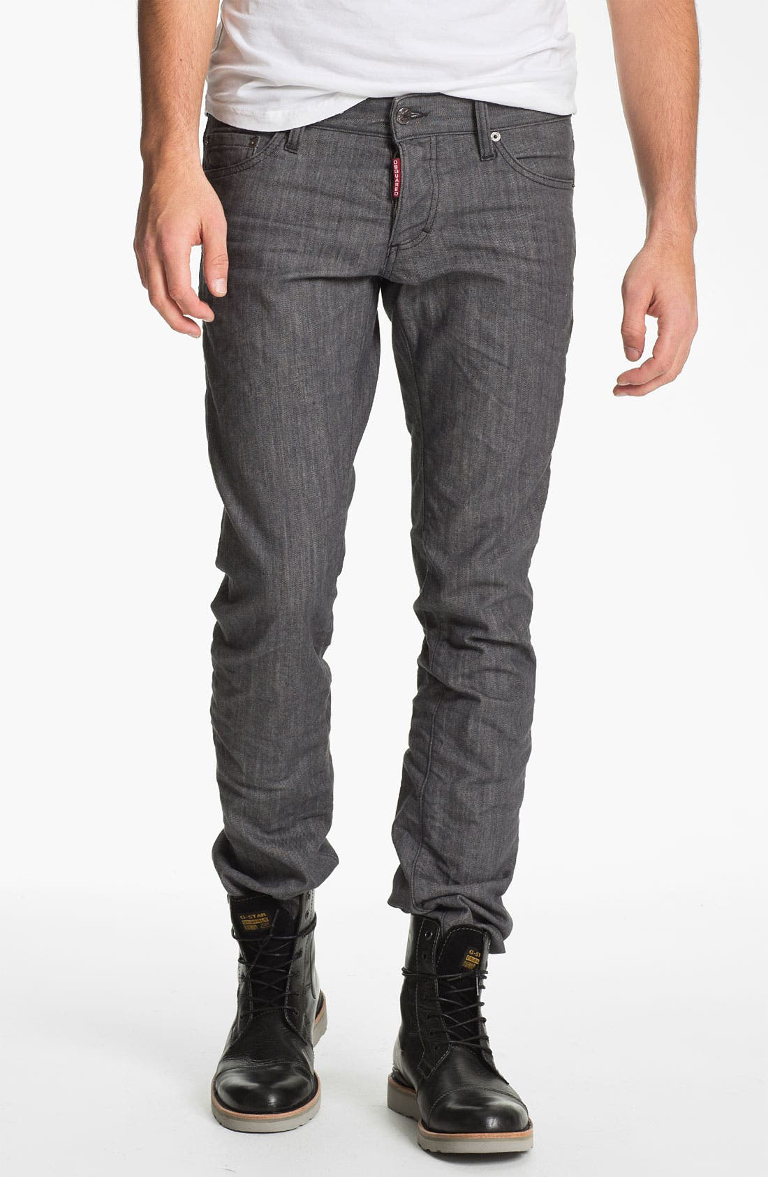 Main Image - Dsquared2 Stretch Slim Fit Jeans (Grey)