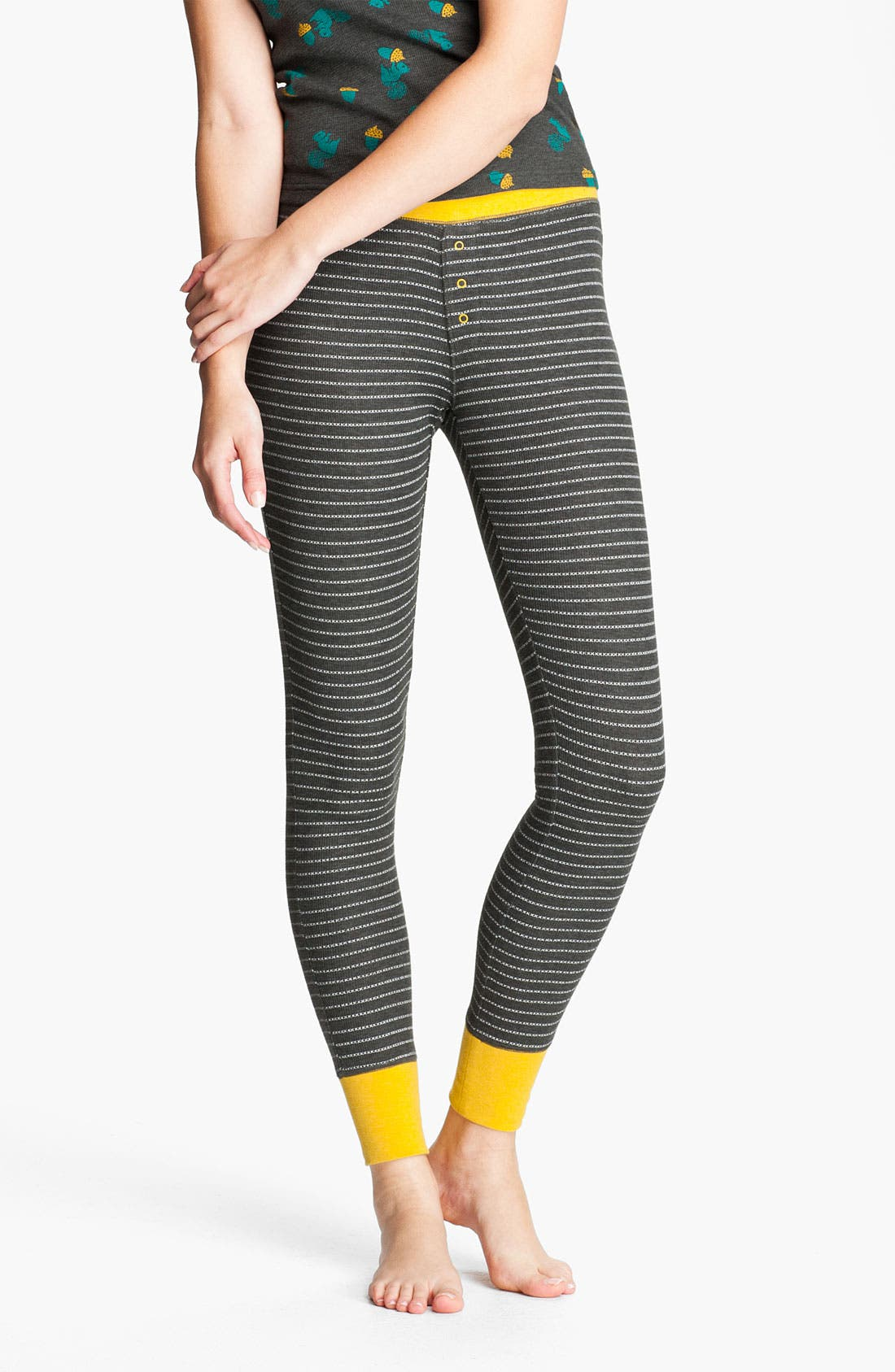 Main Image - BP. Stripe Thermal Leggings (Juniors)