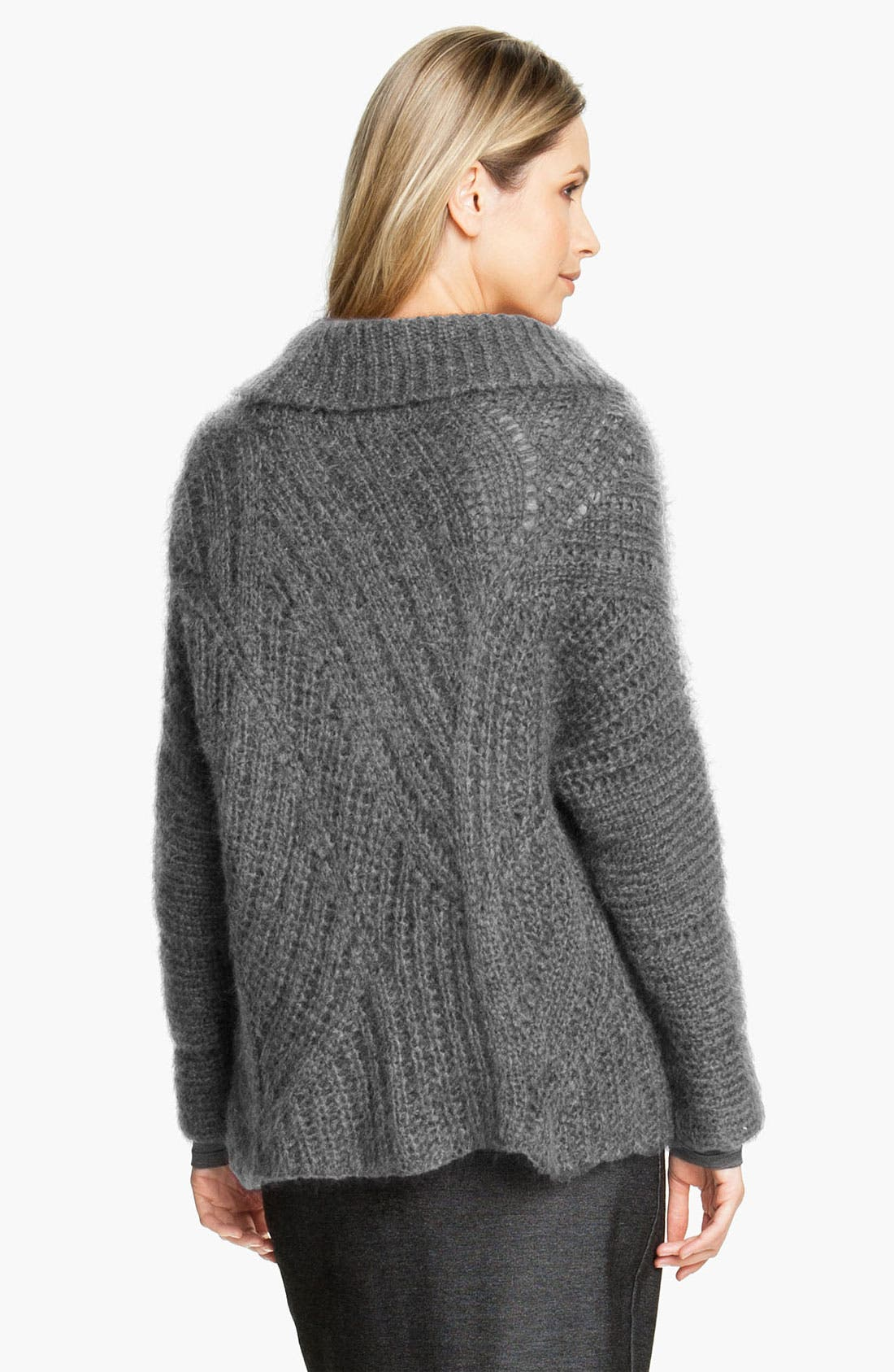 Alternate Image 2  - Eileen Fisher Funnel Neck Mohair Blend Sweater