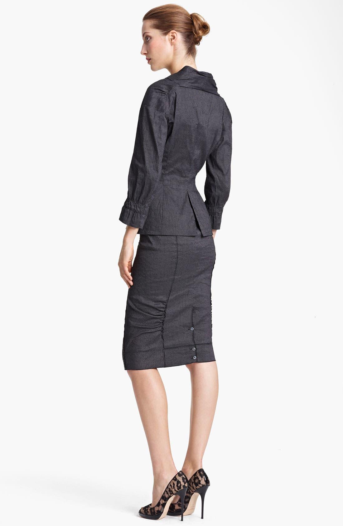 Alternate Image 3  - Nina Ricci Zip Front Pin Dot Jacket