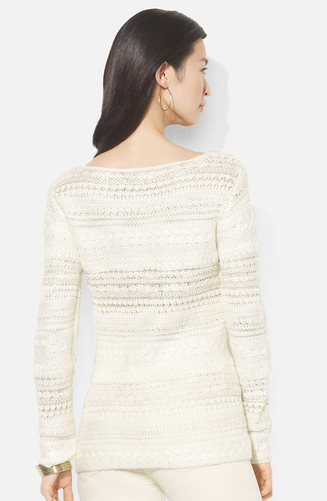 Alternate Image 2  - Lauren Ralph Lauren Bateau Neck Sweater