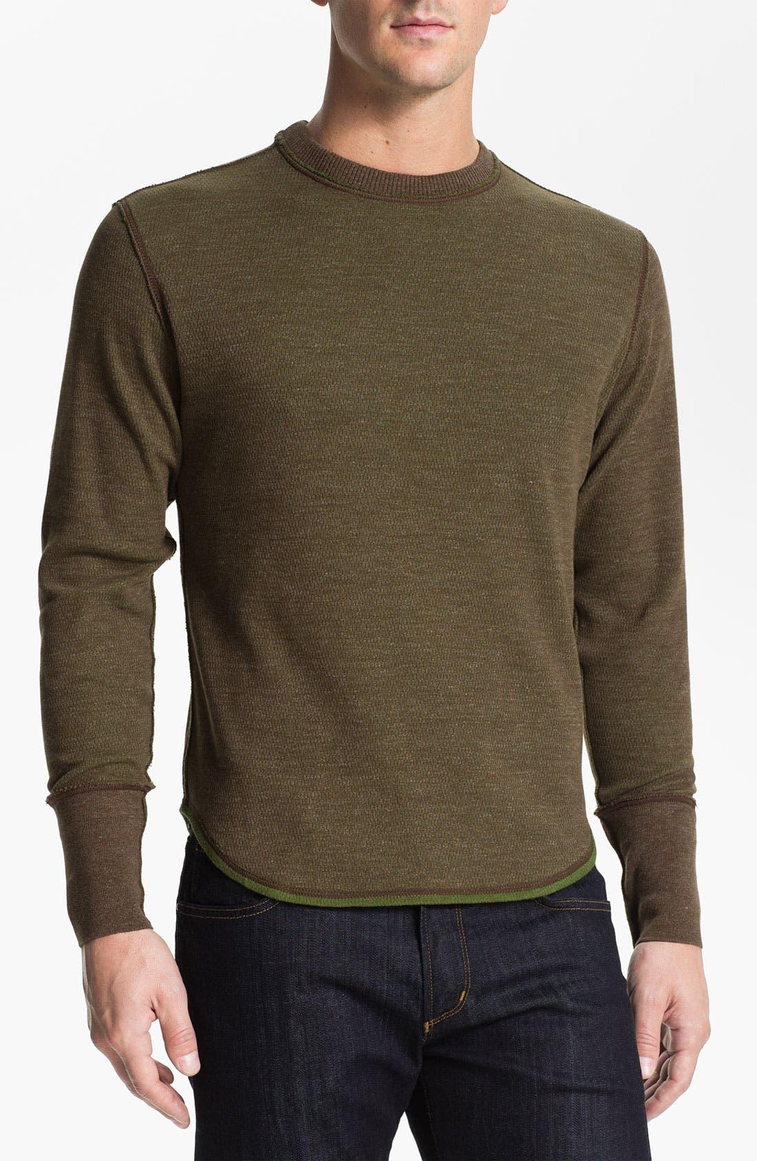 Alternate Image 1 Selected - Robert Graham 'Chancel' Reversible Thermal T-Shirt