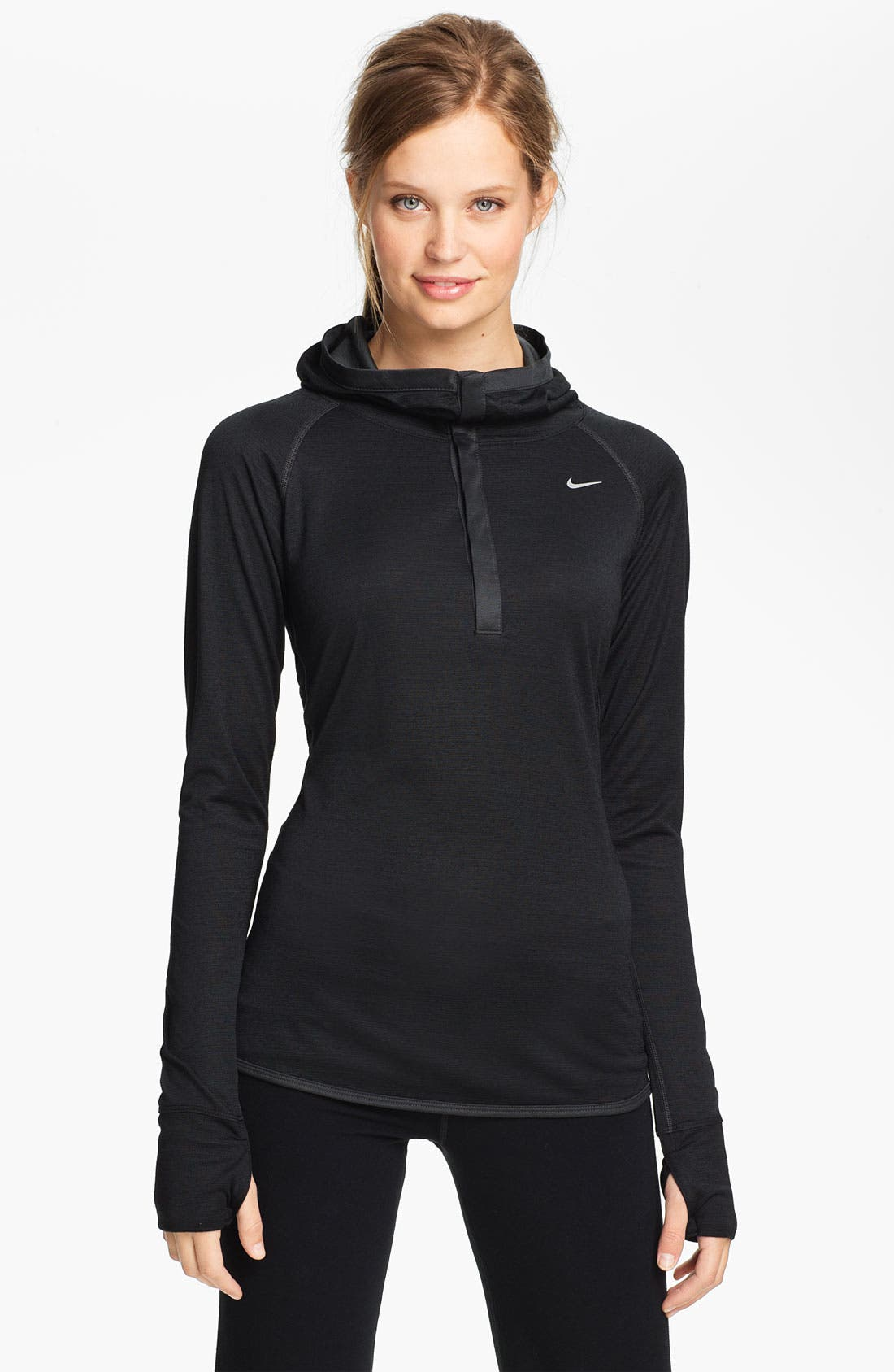 Alternate Image 1 Selected - Nike Wool Blend Dri-FIT Running Hoodie