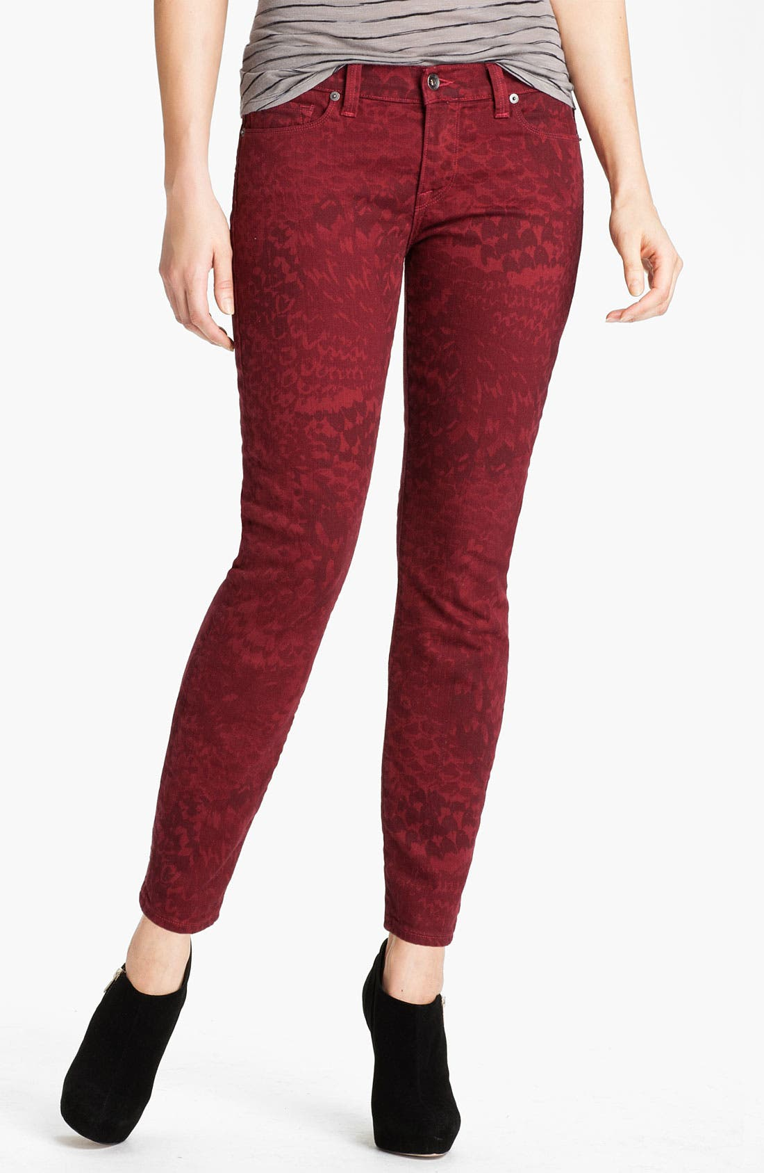 Alternate Image 1 Selected - Lucky Brand 'Legend Sofia' Skinny Print Jeans (Online Exclusive)