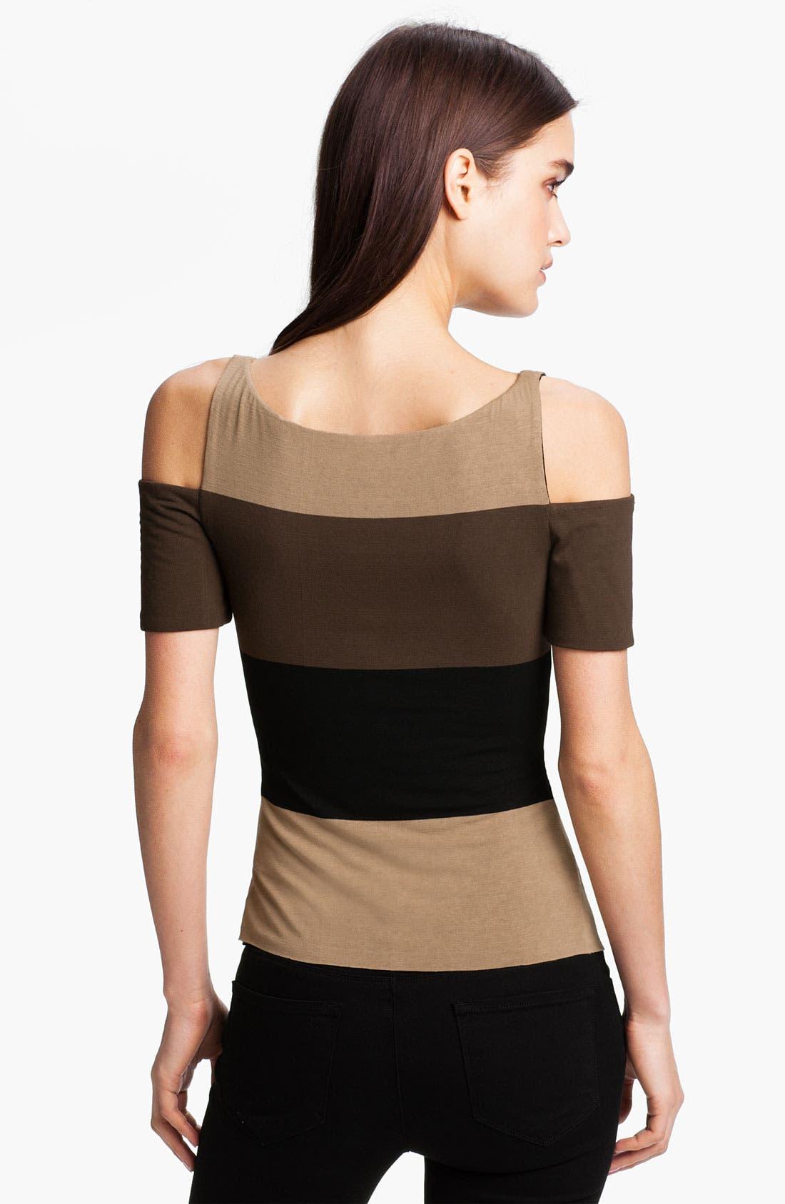Alternate Image 2  - Bailey 44 Stripe Cutout Shoulder Top