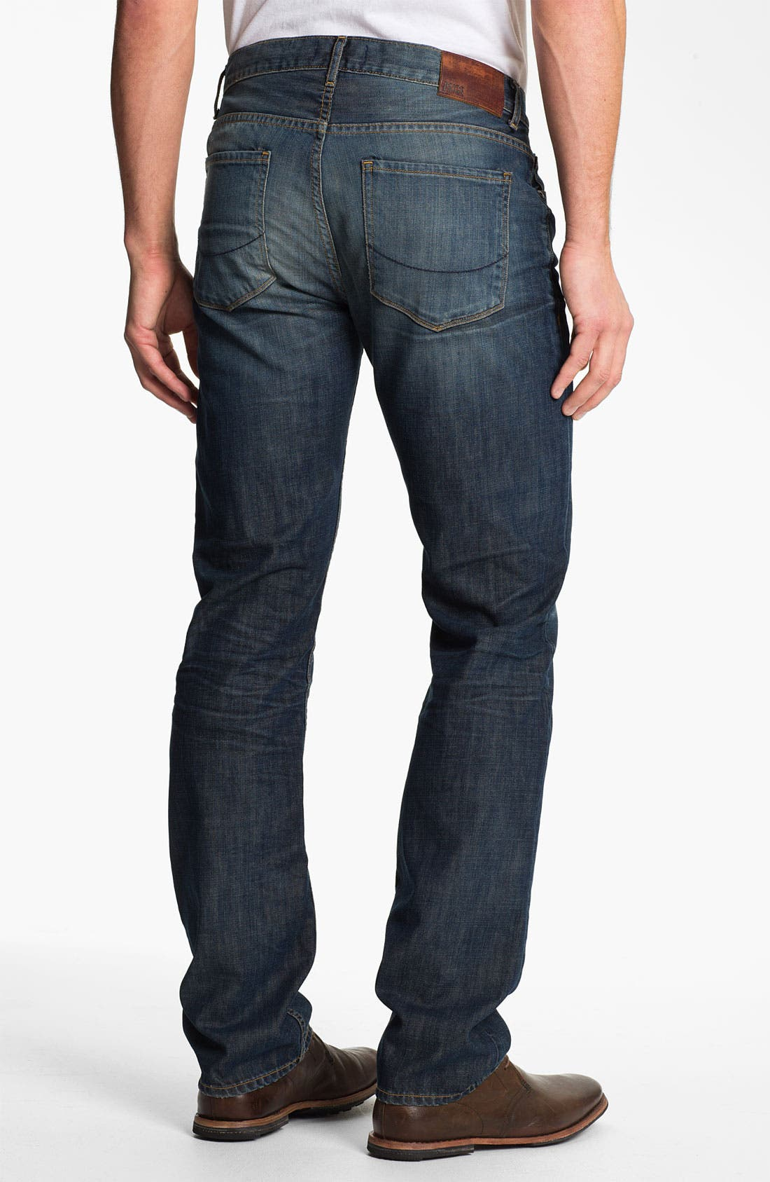 Alternate Image 1 Selected - PAIGE 'Normandie' Slim Straight Leg Jeans (Castaway)
