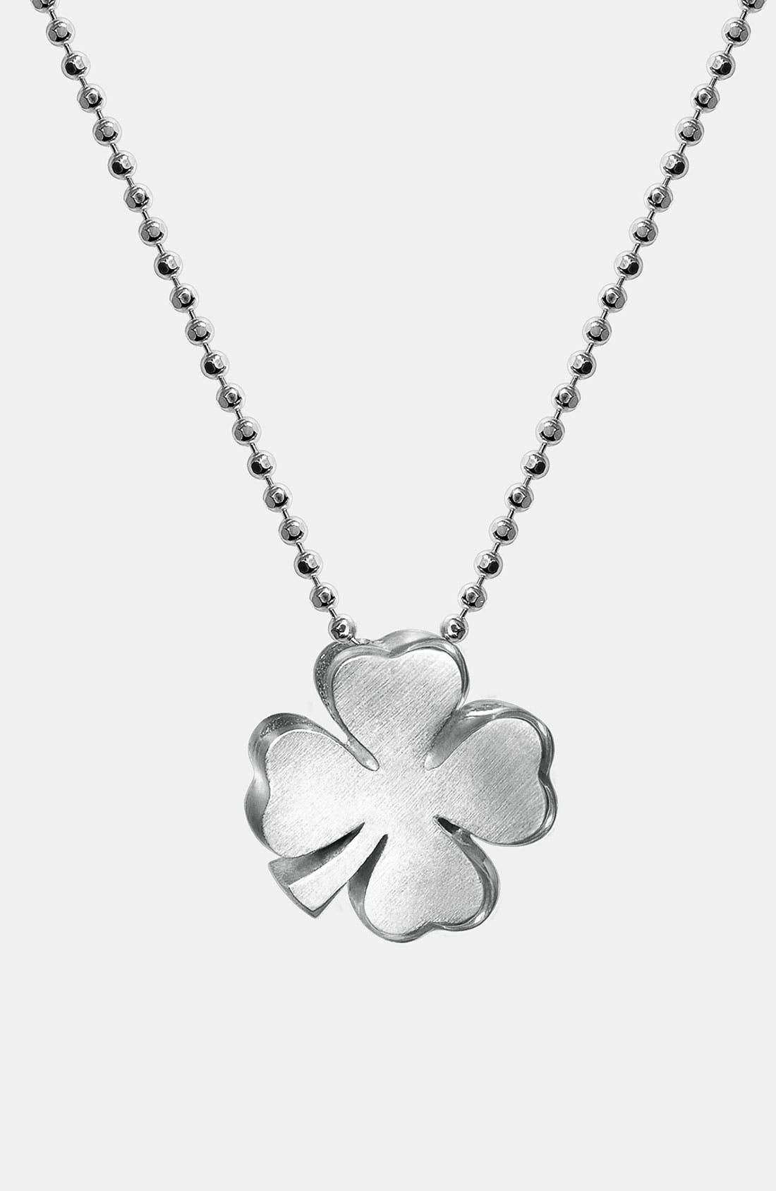 Alternate Image 1 Selected - Alex Woo 'Little Luck' Pendant Necklace