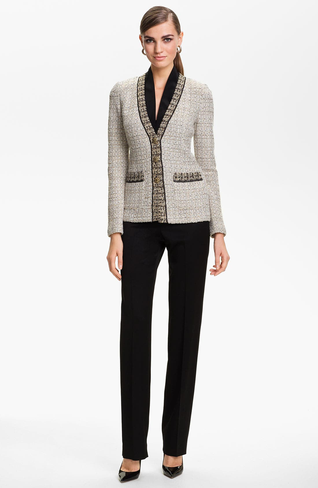Alternate Image 2  - St. John Collection Venezia Tweed Knit Jacket