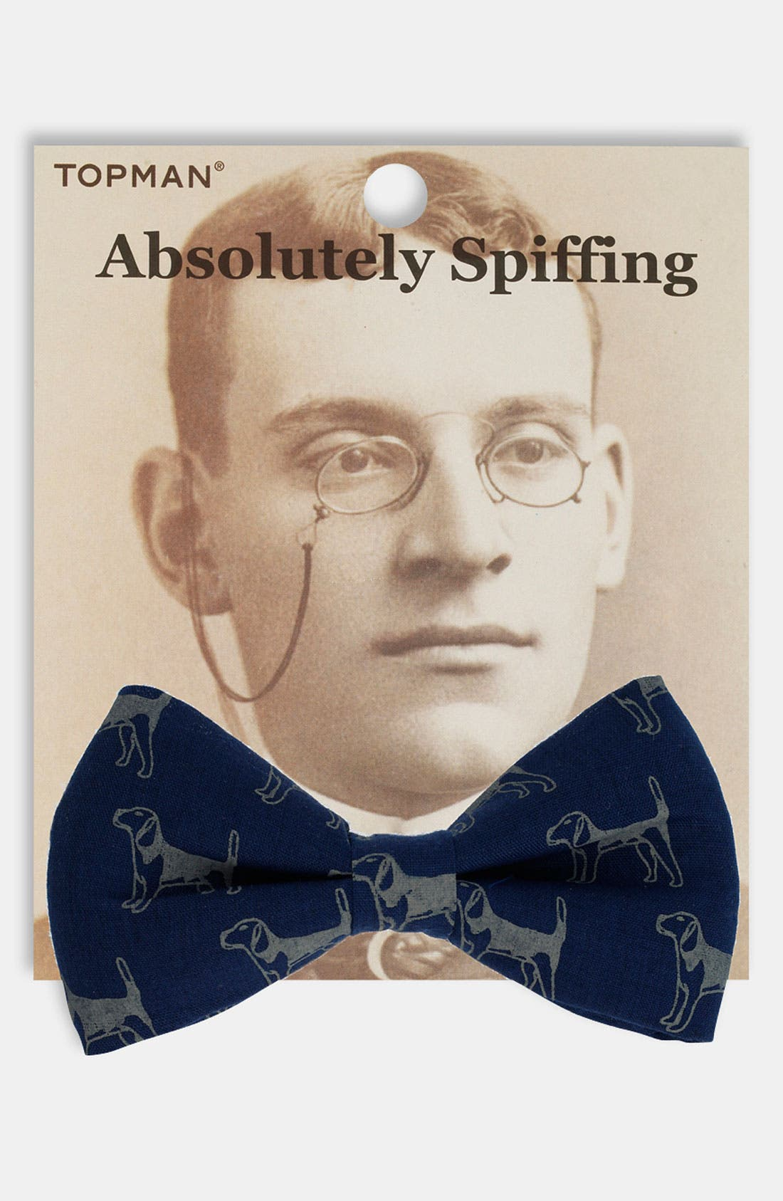 Main Image - Topman Dog Print Bow Tie