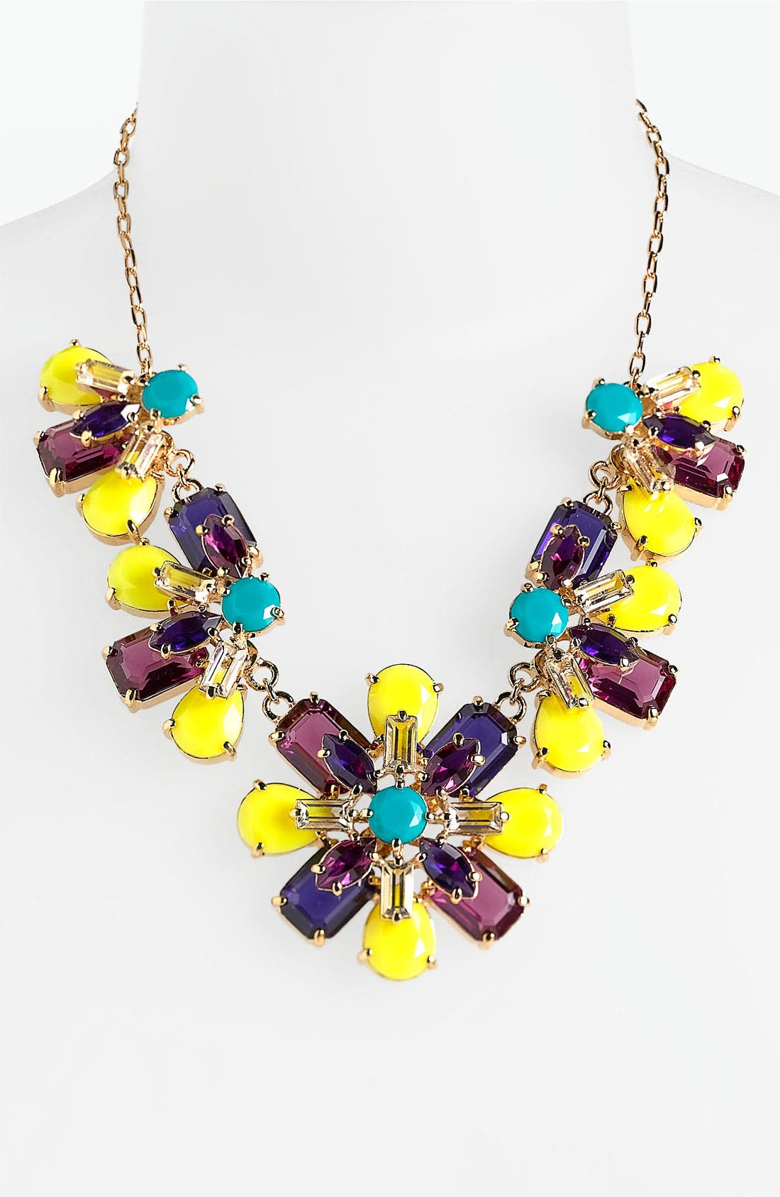 Main Image - kate spade new york 'kaleidoscope floral' frontal necklace