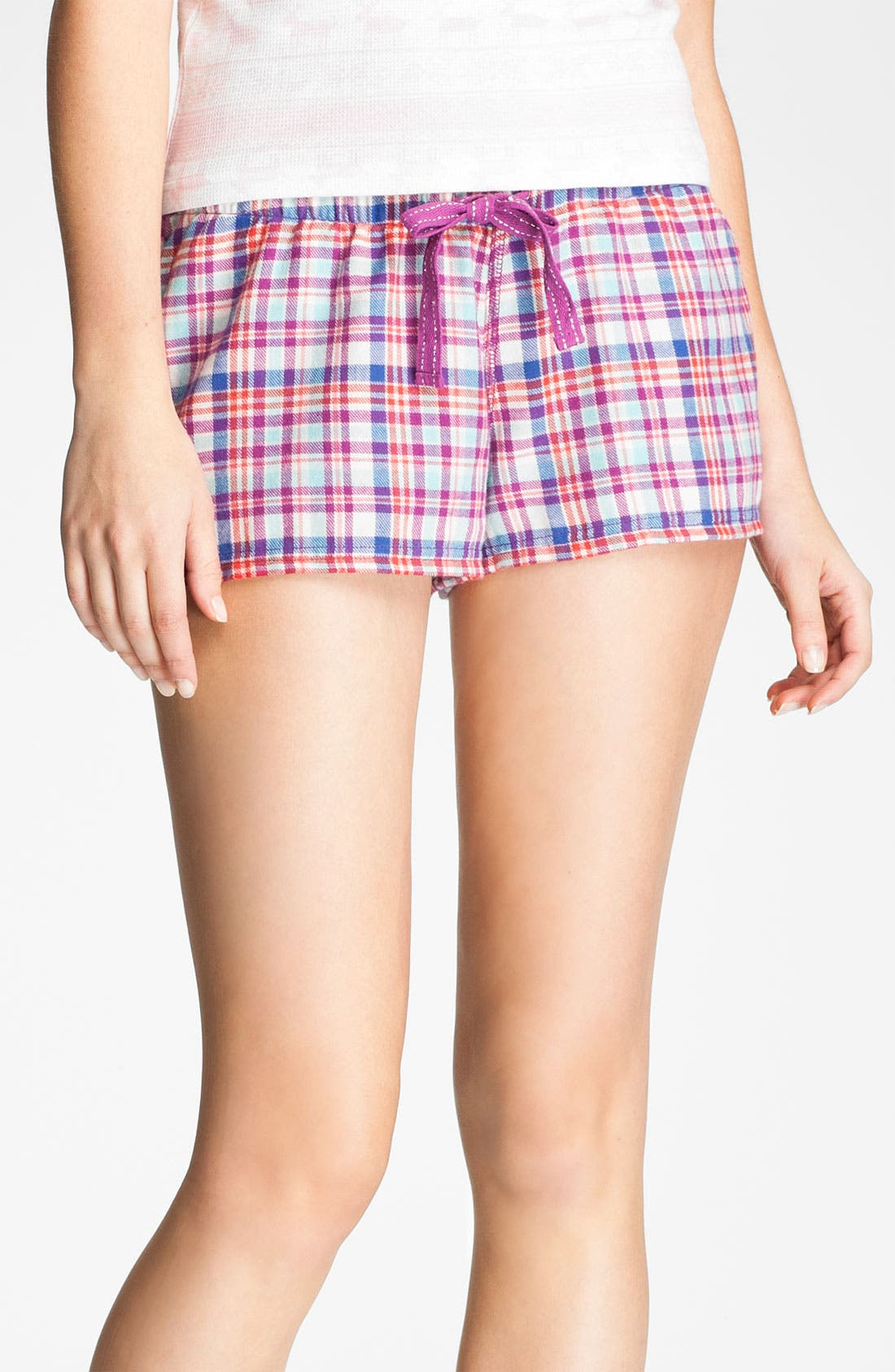 Main Image - BP. 'Union' Flannel Lounge Shorts (Juniors)