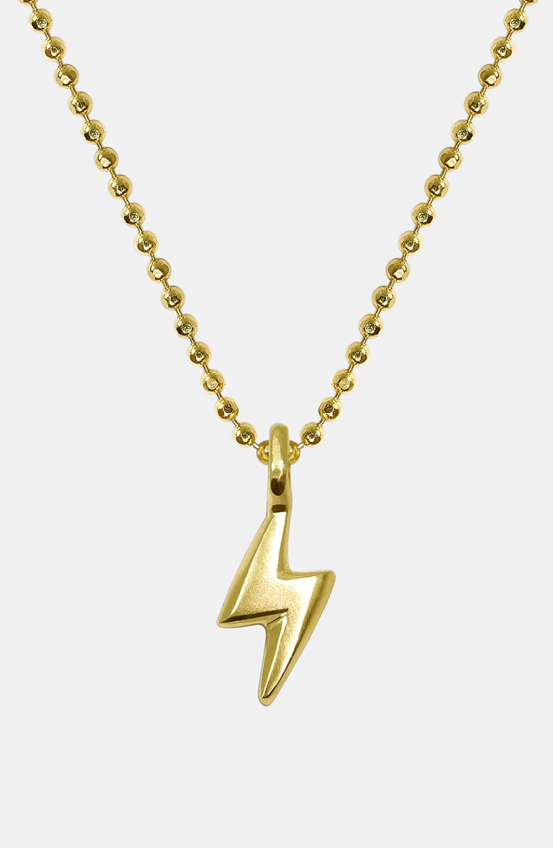 Alternate Image 1 Selected - Alex Woo 'Mini Lightening Bolt' 14k Gold Pendant Necklace