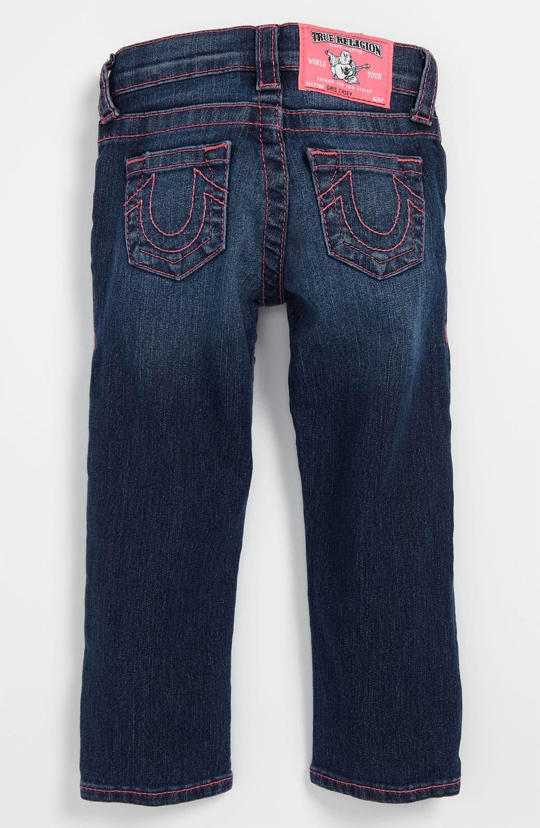 Alternate Image 1 Selected - True Religion Brand Jeans 'Casey' Skinny Leg Jeans (Toddler)