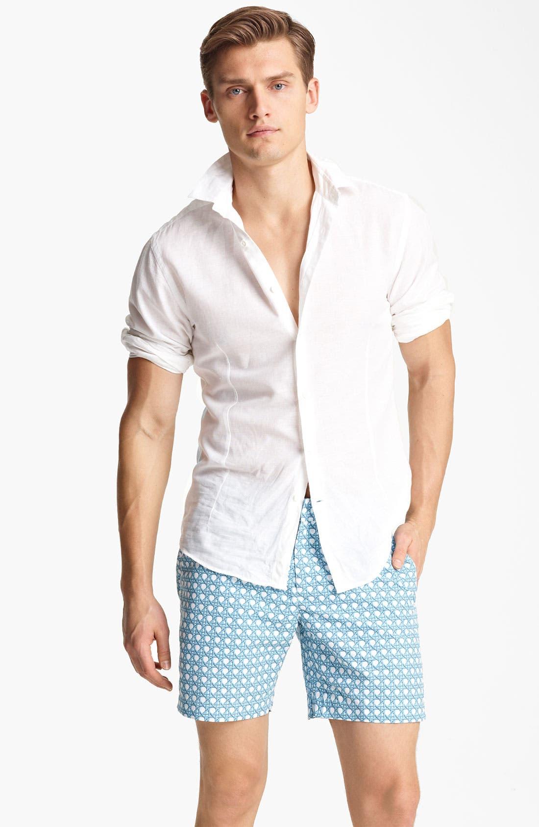 Alternate Image 1 Selected - Orlebar Brown 'Fleming' Linen Blend Shirt