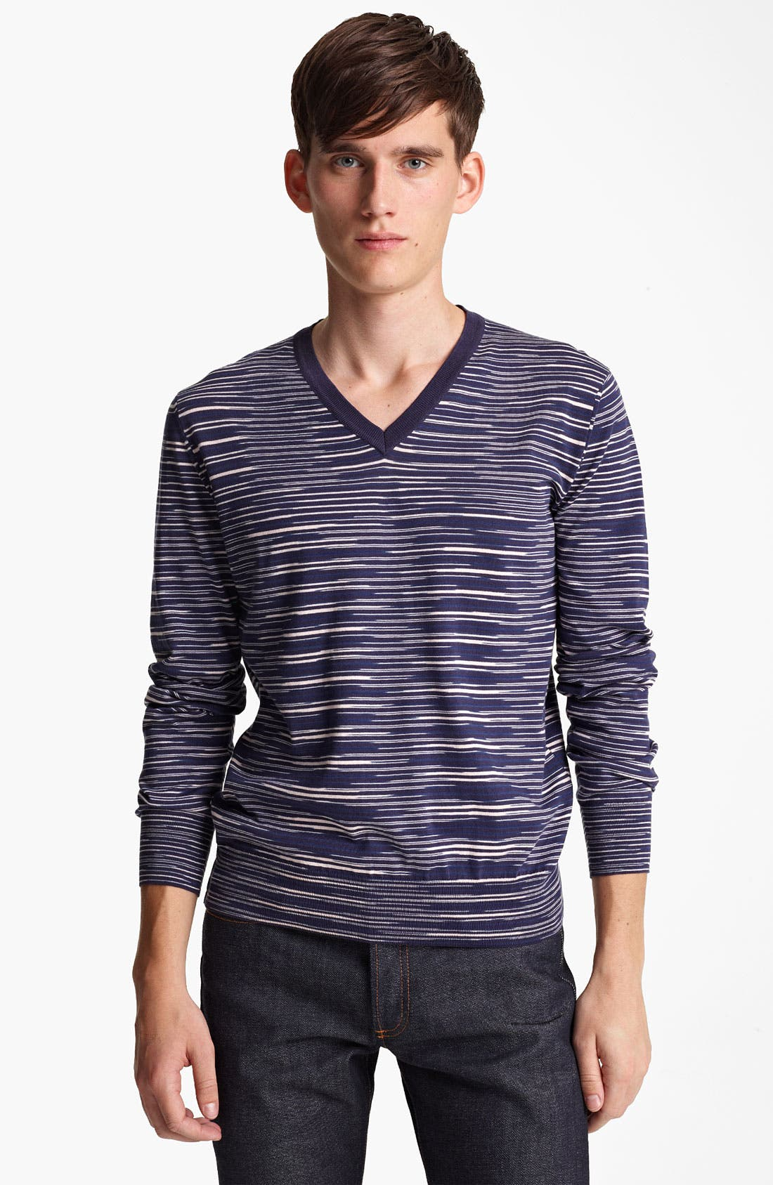 Main Image - Missoni Space Dyed Stripe V-Neck Sweater