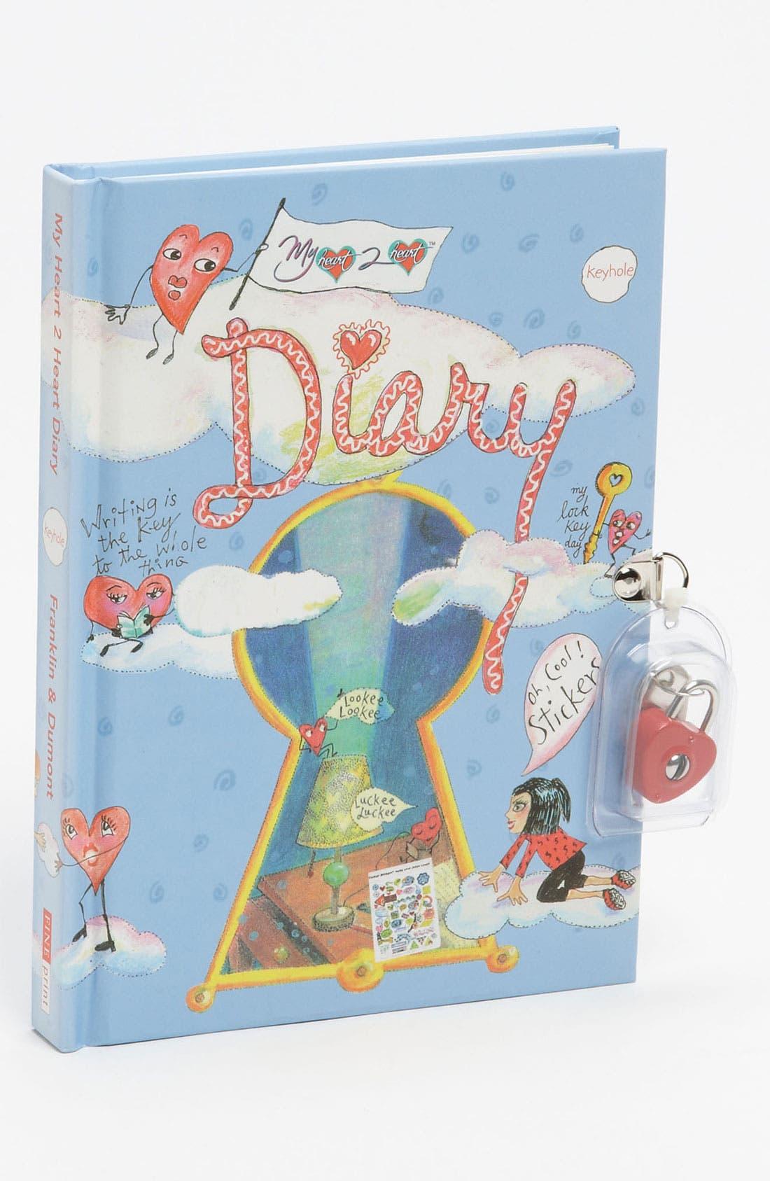 Alternate Image 1 Selected - Fine Print Publishing 'Locket' Diary (Girls)