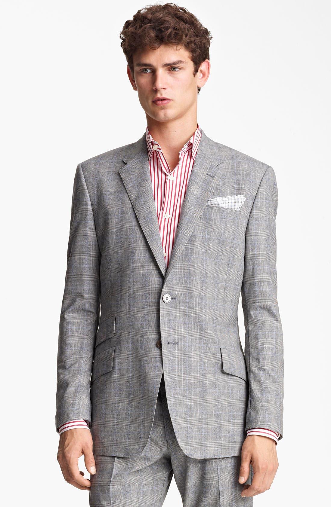 Alternate Image 1 Selected - Paul Smith London Slim Fit Glen Plaid Wool Suit