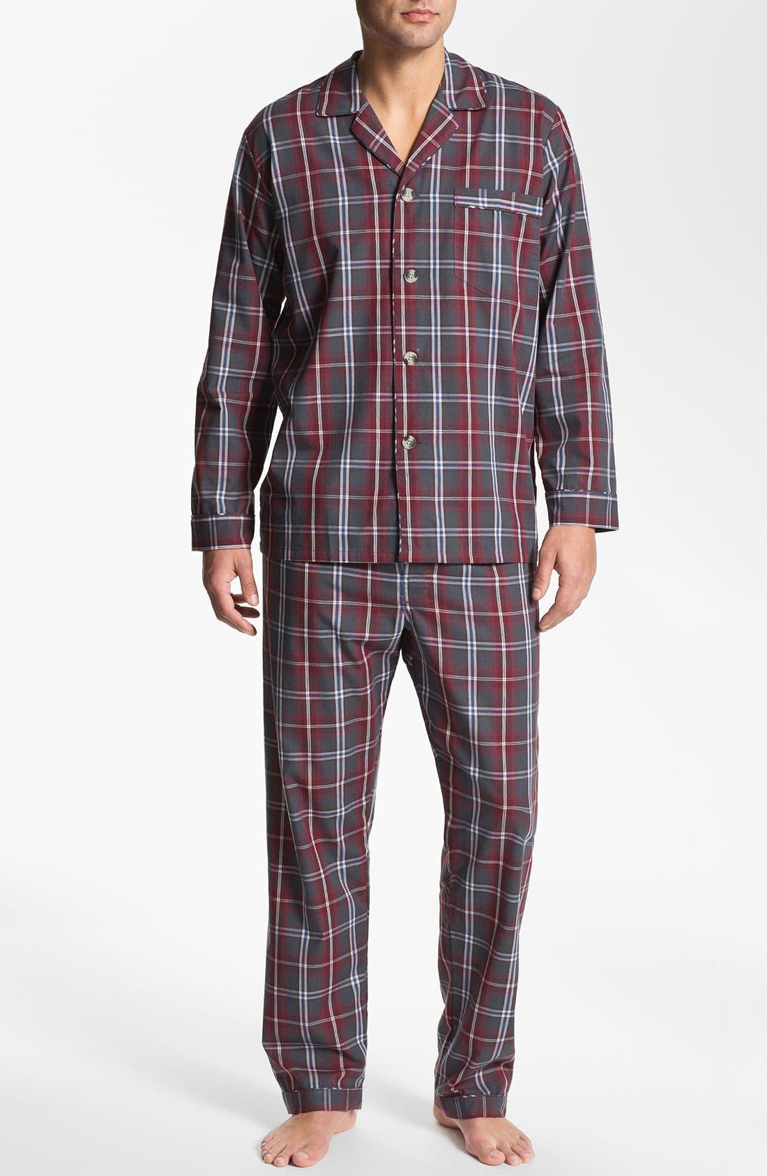 Alternate Image 1 Selected - Majestic Plaid Easy Care Pajama Set (Big & Tall)
