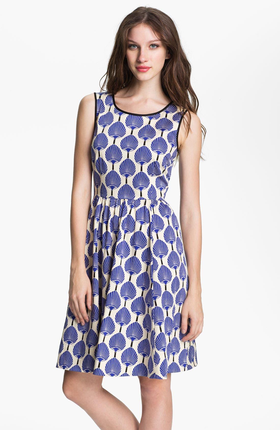 Main Image - kate spade new york 'matty' stretch cotton fit & flare dress