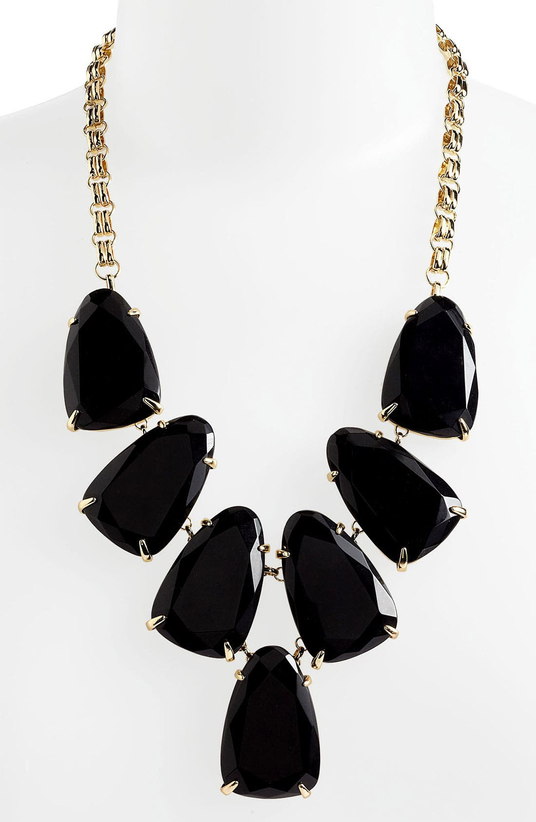Harlow Necklace,                             Alternate thumbnail 2, color,                             Black Onyx/ Gold