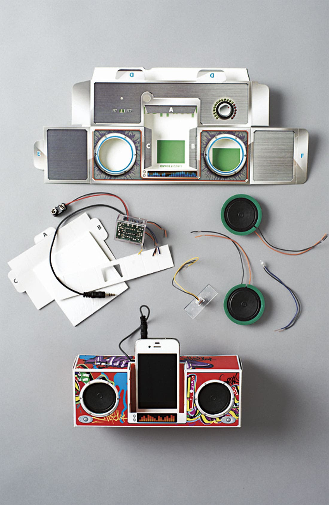 Alternate Image 2  - Smart Lab 'DJ Rock Dock' Paper Speakers