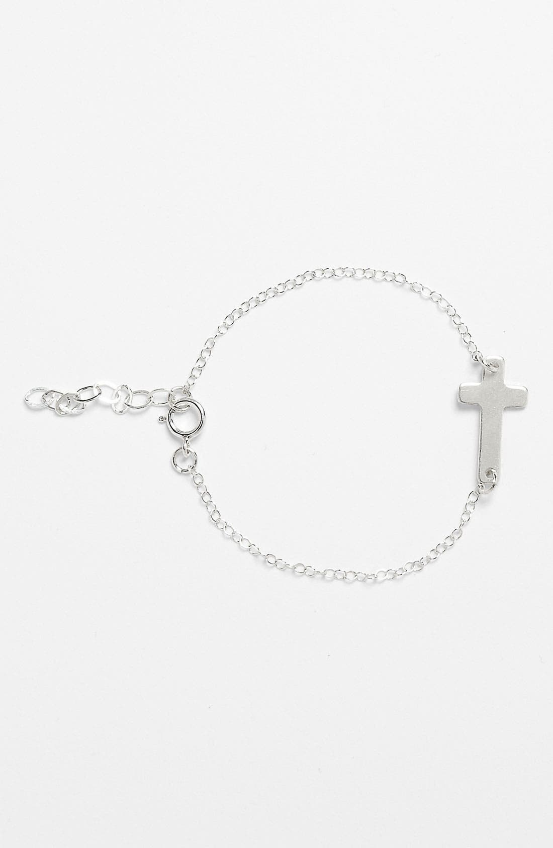 Alternate Image 1 Selected - Abela Designs Sideways Cross Bracelet (Girls)