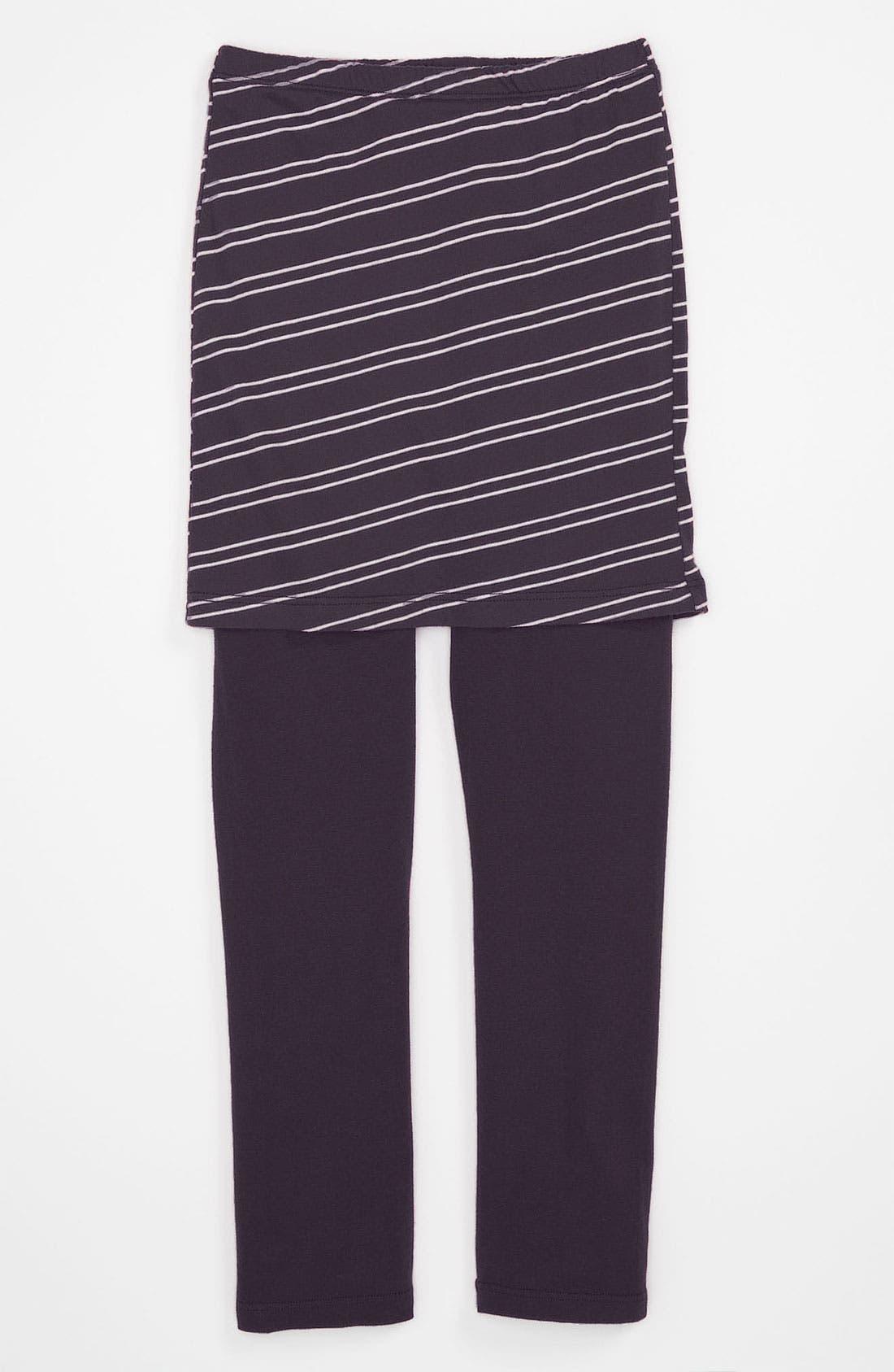 Alternate Image 1 Selected - Joah Love Stripe Skirt Leggings (Little Girls & Big Girls)