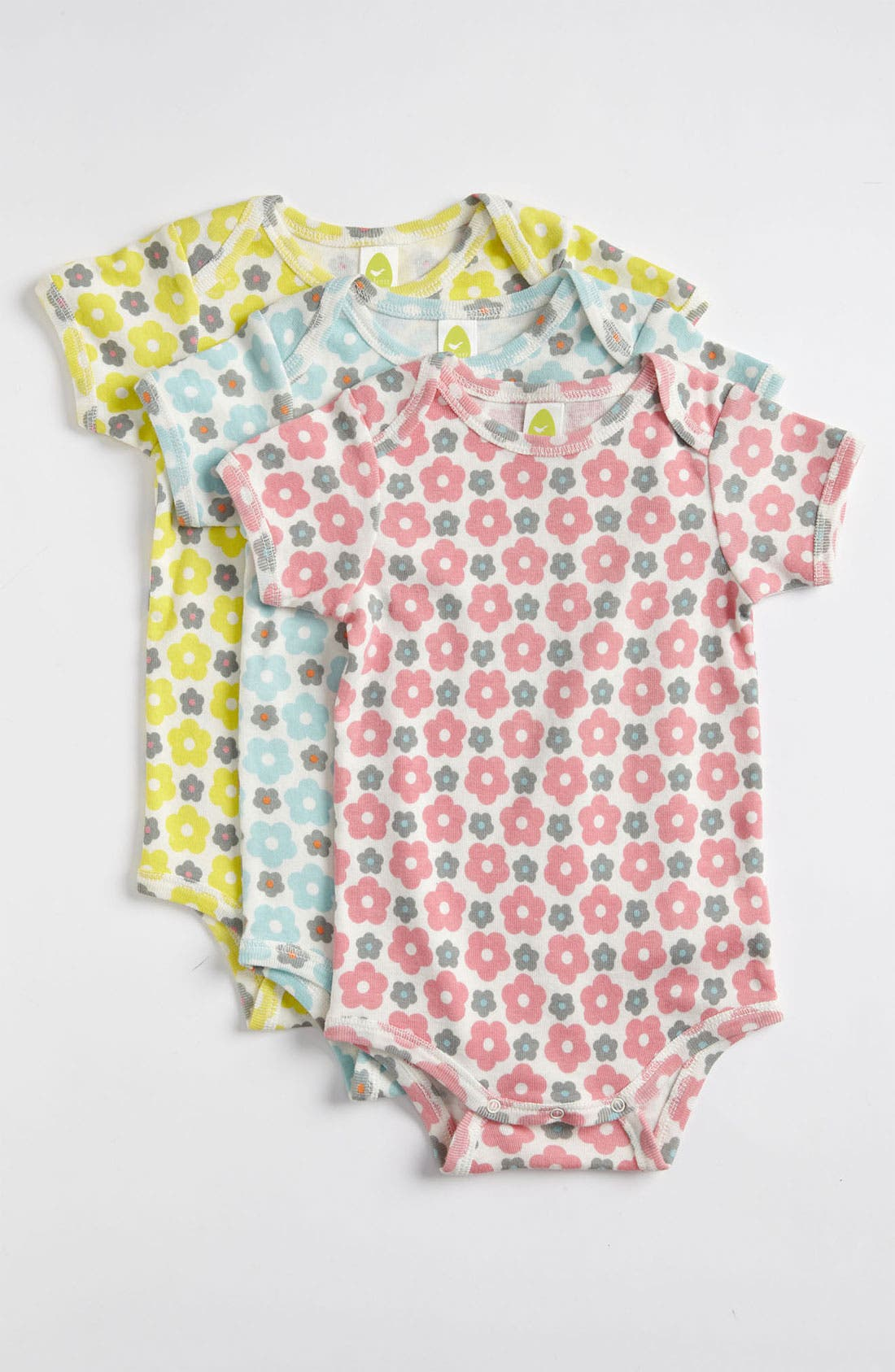 Alternate Image 1 Selected - Stem Baby Organic Cotton Bodysuit (3-Pack) (Infant)