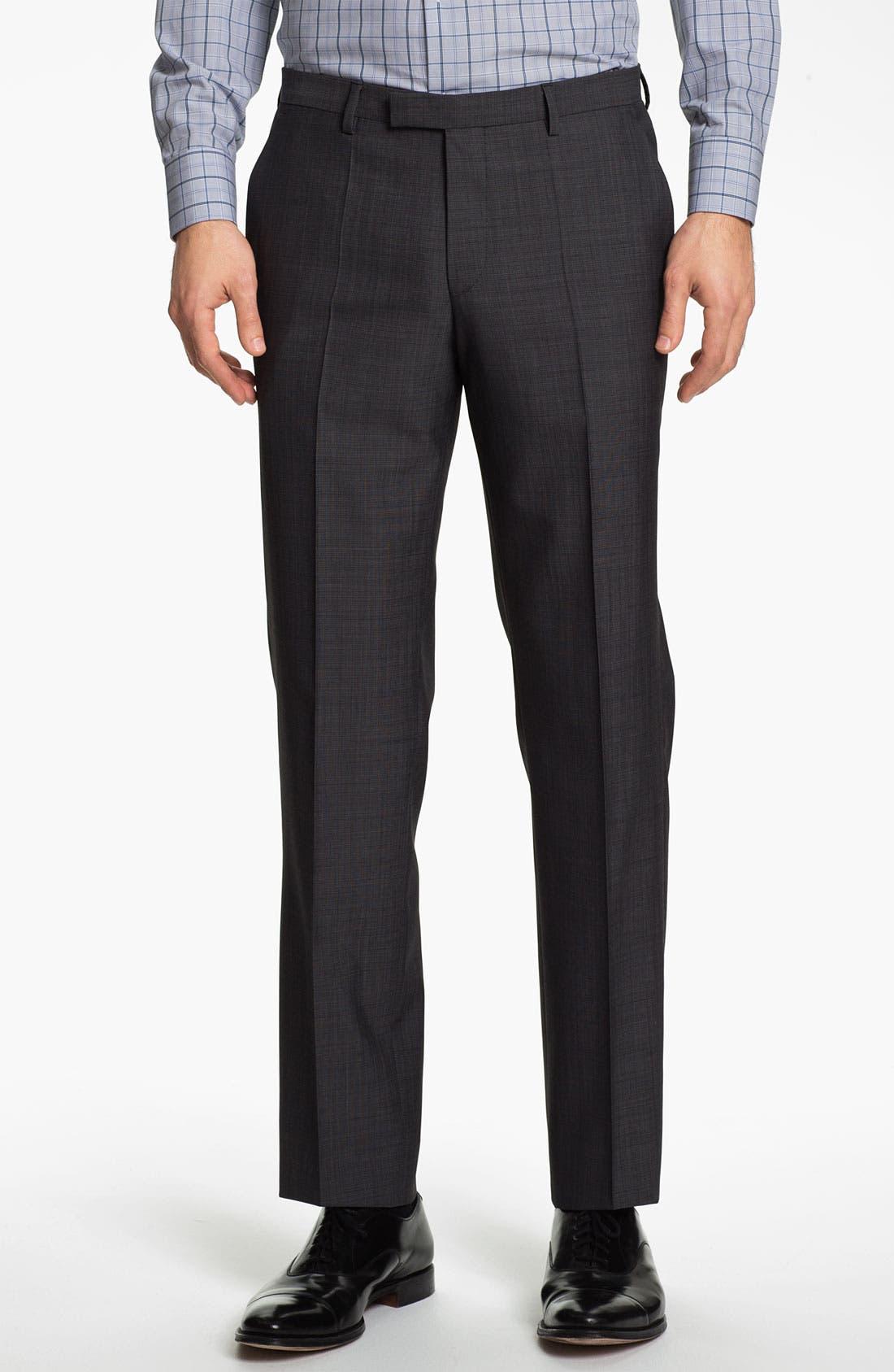 Alternate Image 4  - BOSS Black 'James/Sharp' Trim Fit Three Piece Suit