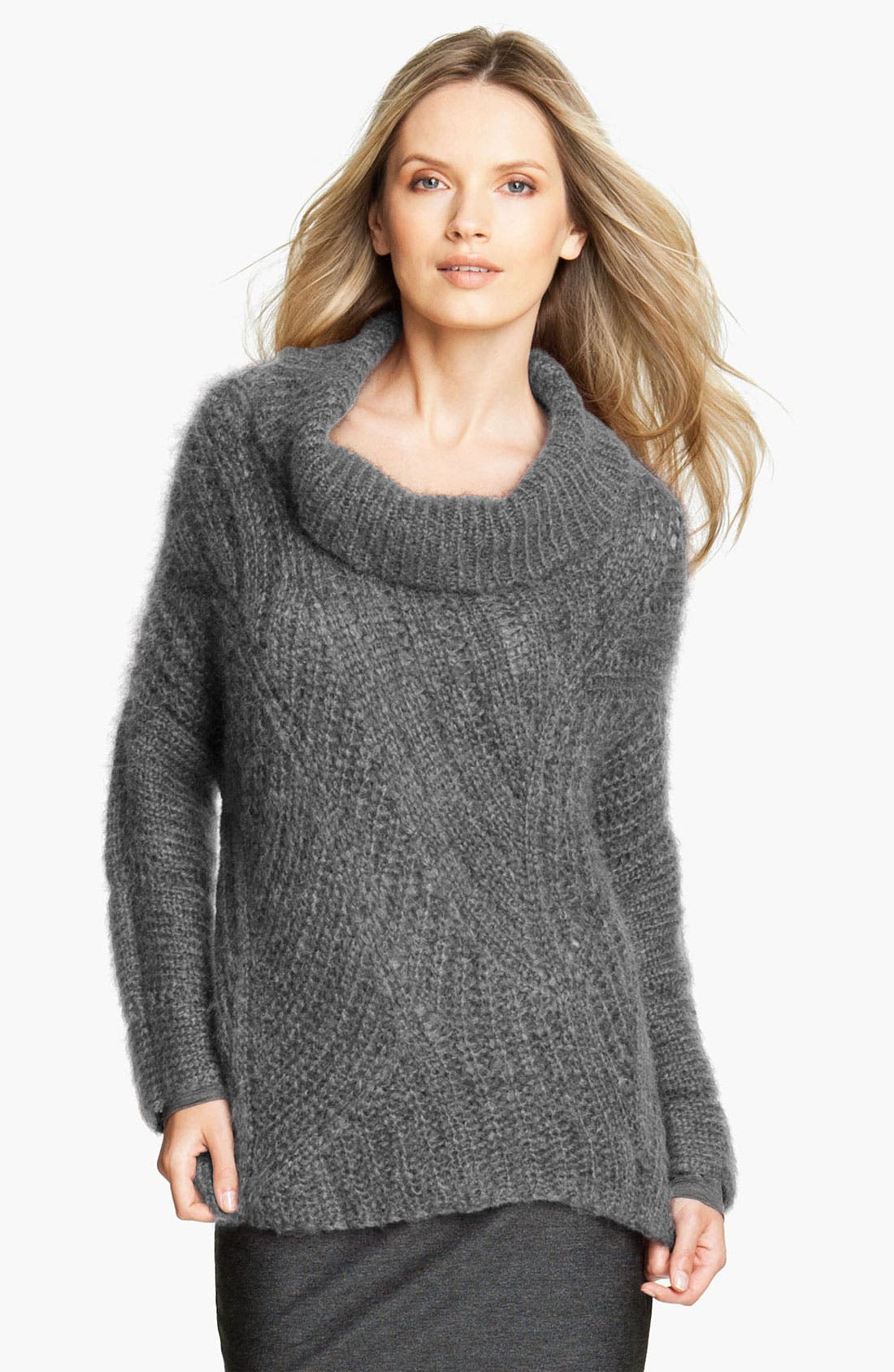 Alternate Image 1 Selected - Eileen Fisher Funnel Neck Mohair Blend Sweater