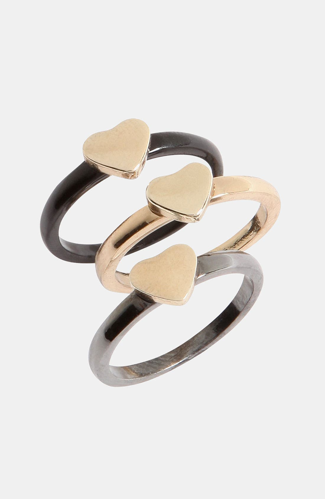 Main Image - Topshop 'Trellis' Assorted Rings (Set of 3)