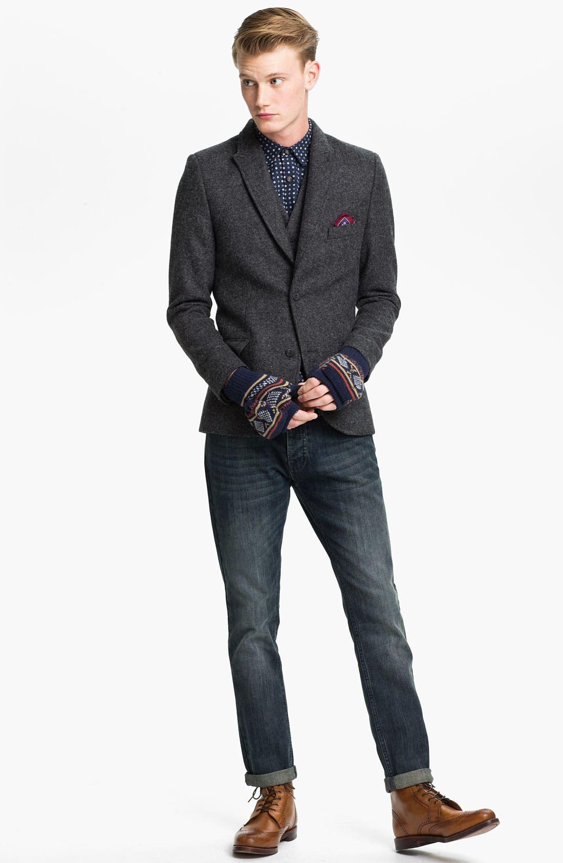 Alternate Image 4  - Topman Wool Waistcoat