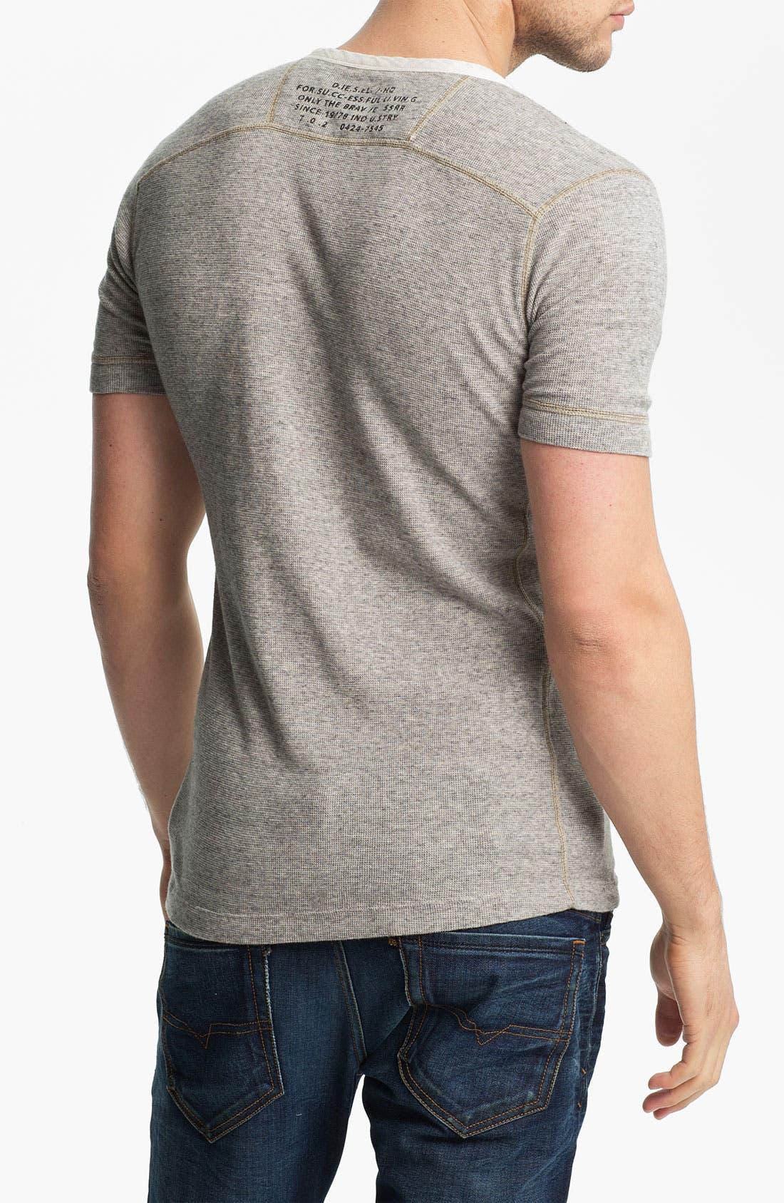 Alternate Image 2  - DIESEL® Waffle Knit Henley T-Shirt