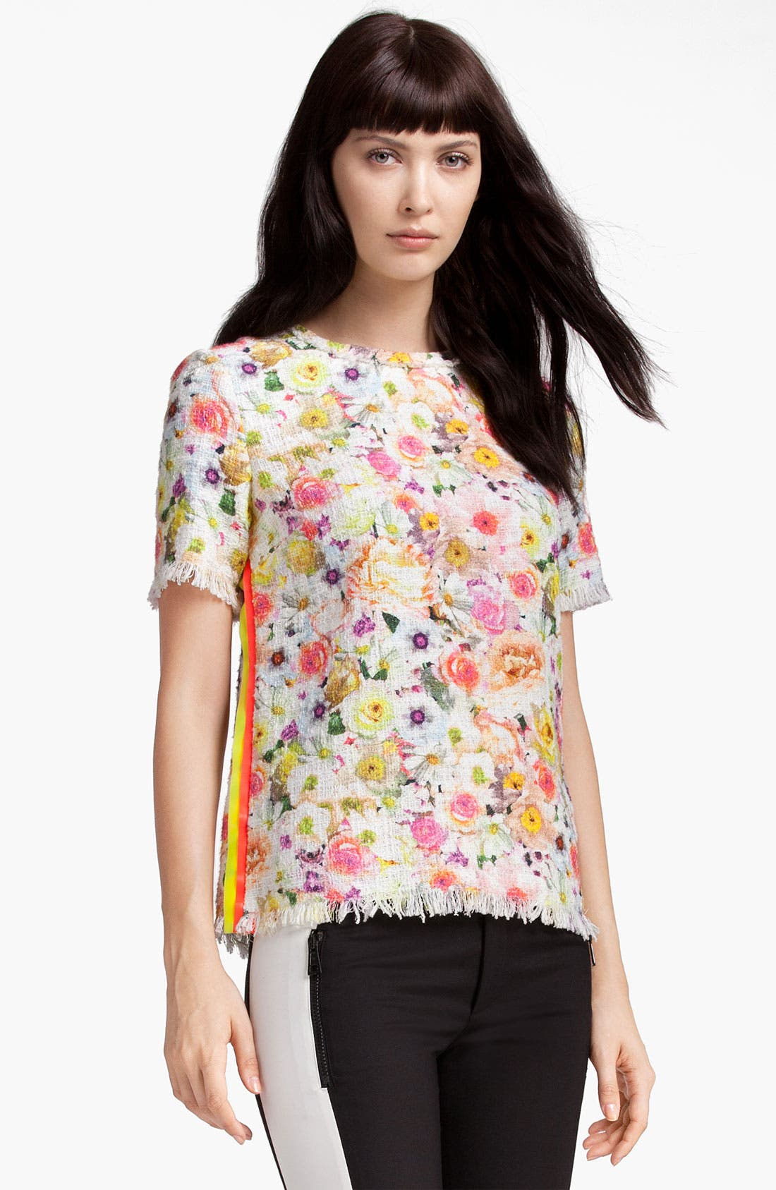 Alternate Image 1 Selected - MSGM Floral Print Top