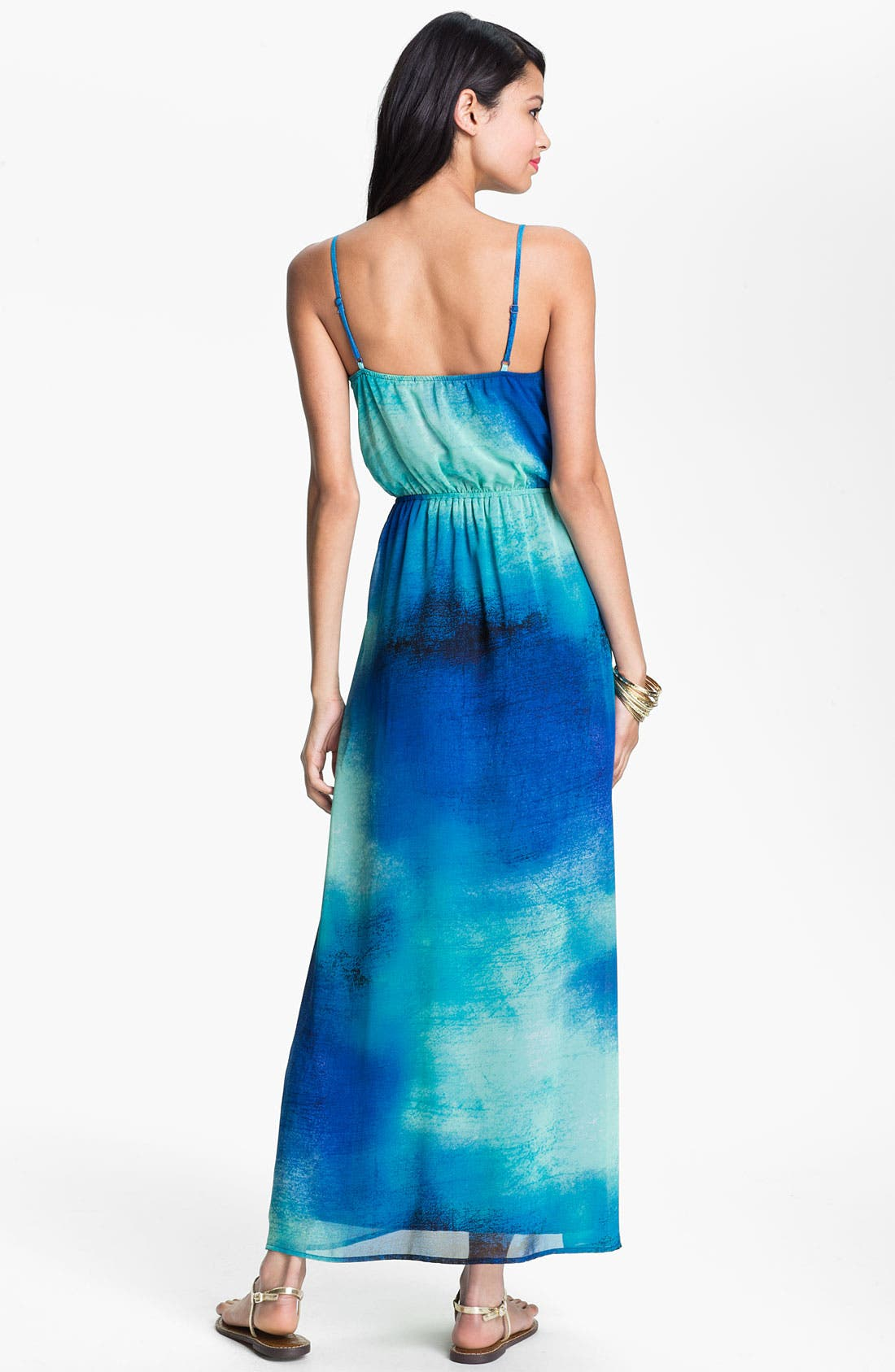 Alternate Image 2  - Soprano Chiffon Maxi Dress (Juniors)