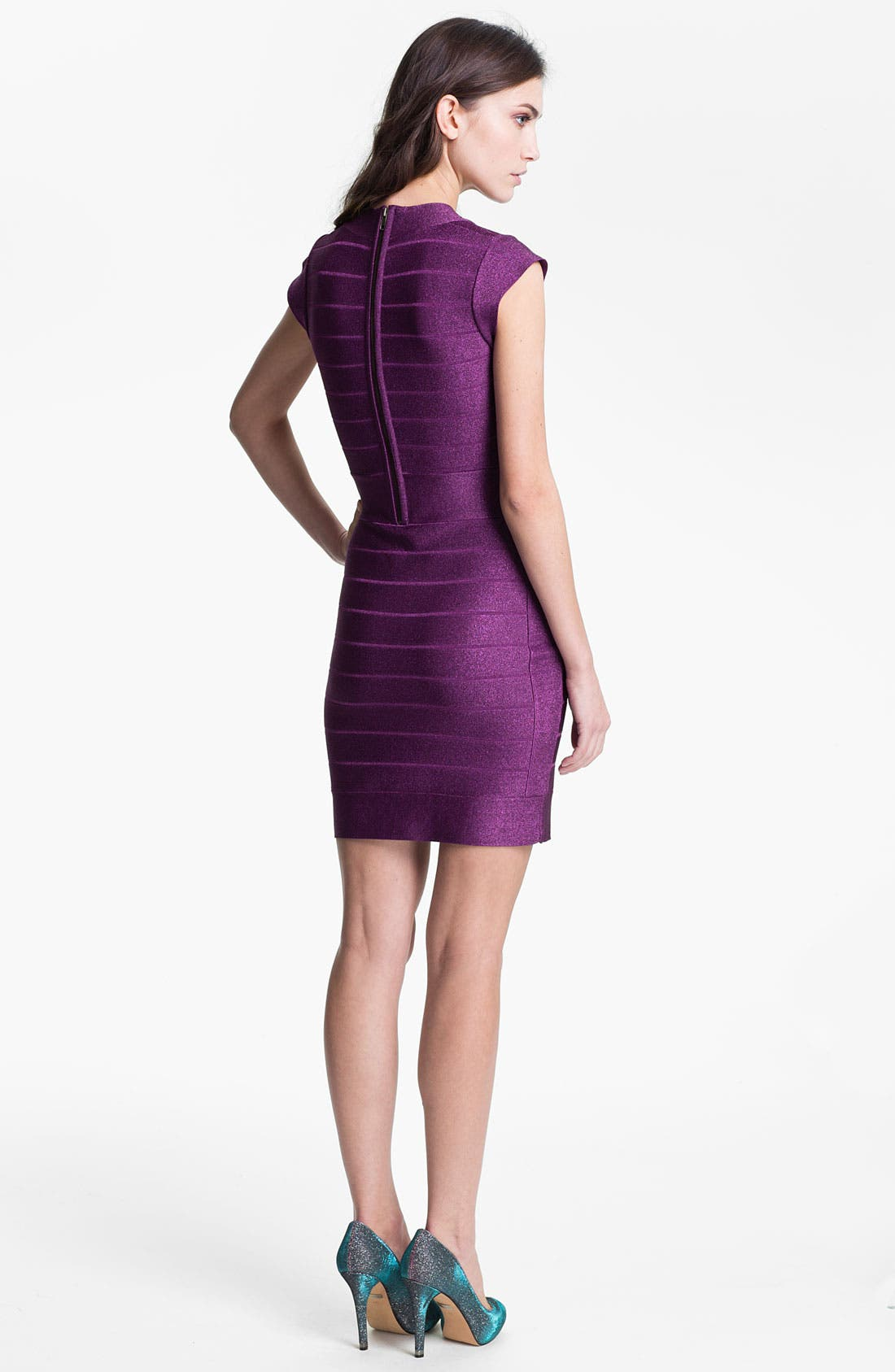 Alternate Image 2  - French Connection 'Dani' Metallic Banded Sheath Dress
