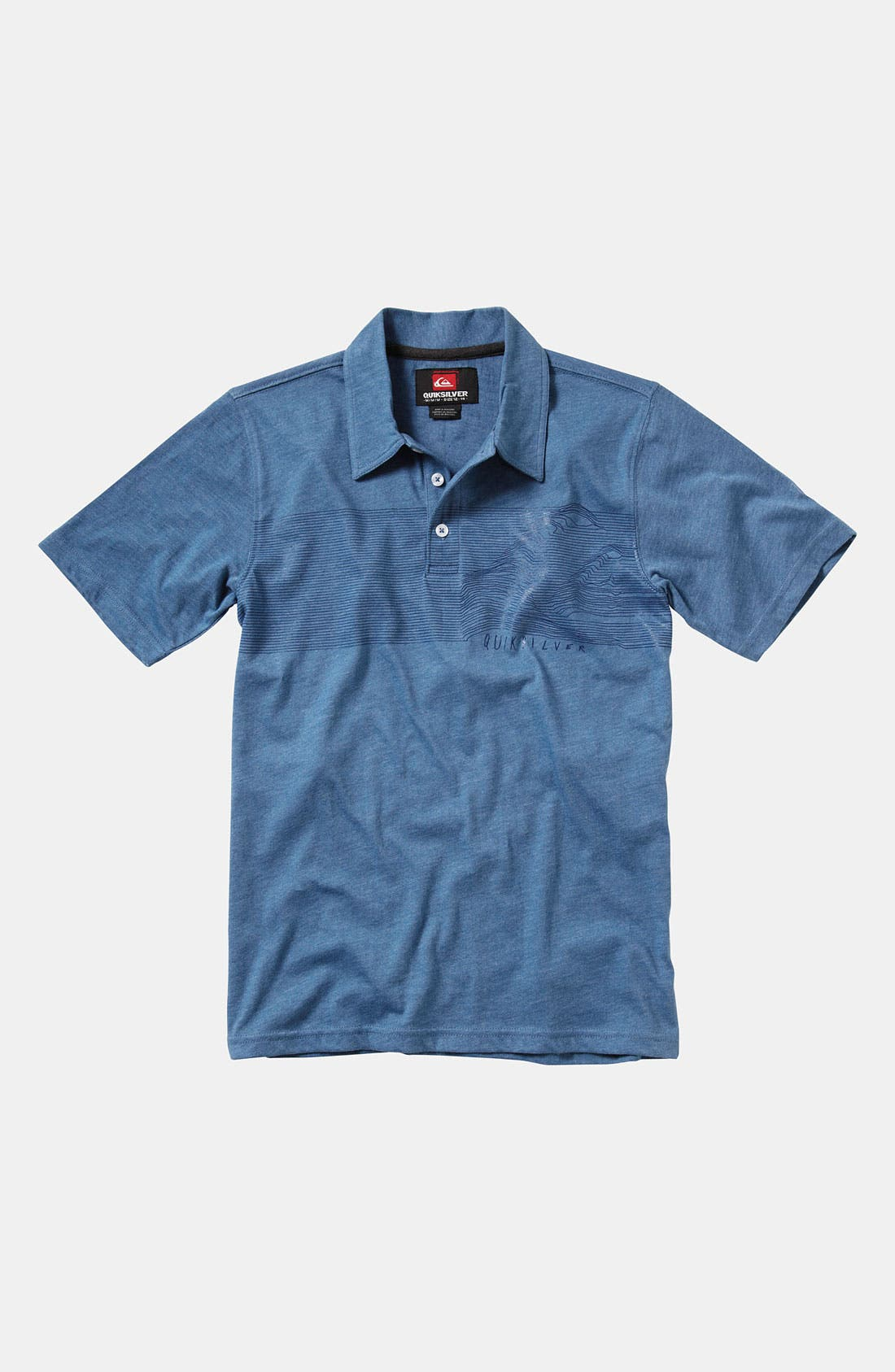 Alternate Image 1 Selected - Quiksilver 'Big Time' Polo Shirt (Big Boys)