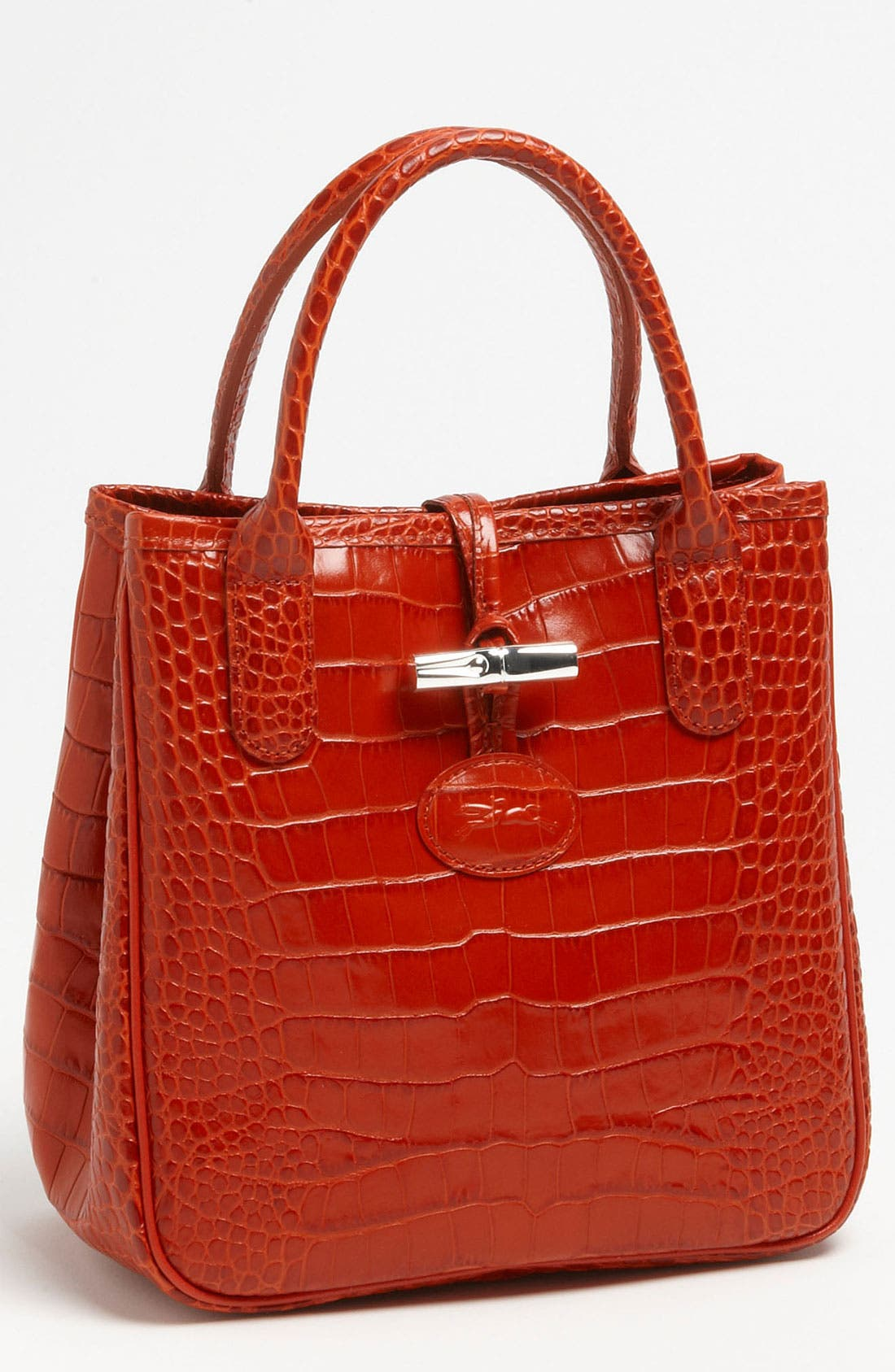 Alternate Image 1 Selected - Longchamp 'Roseau' Croc Embossed Tote