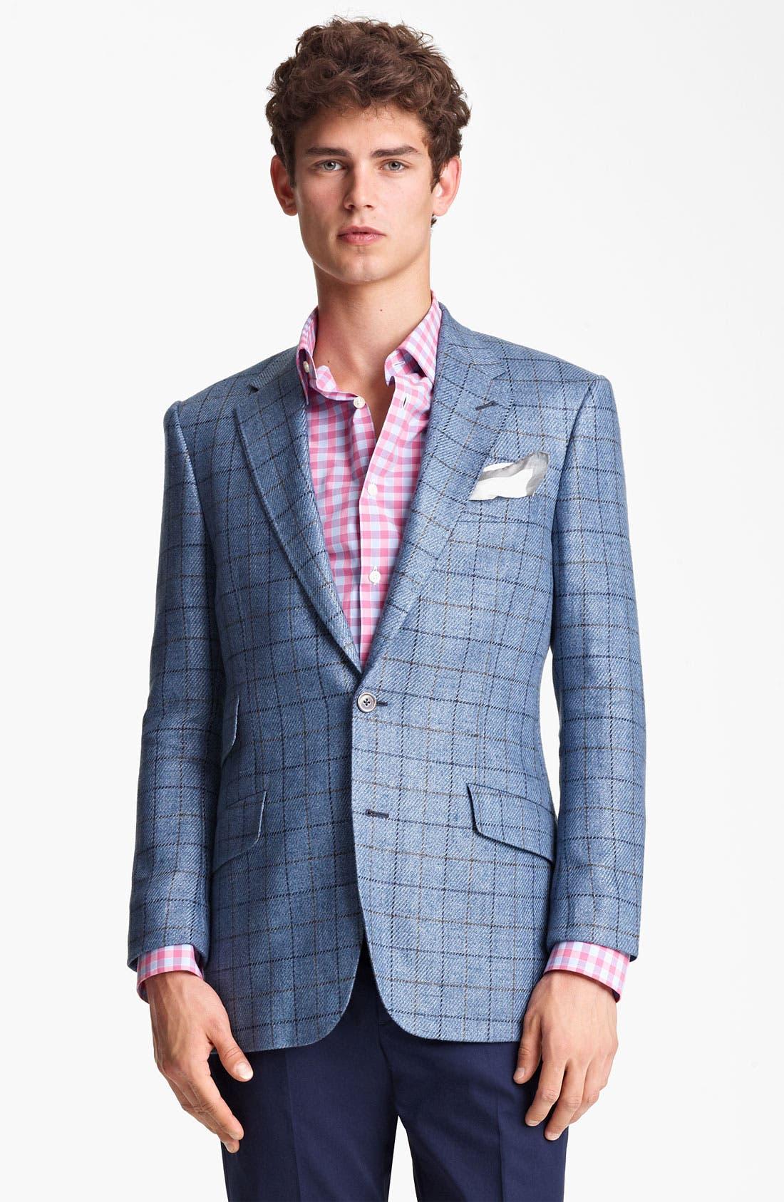 Main Image - Paul Smith London Linen Cotton Plaid Sportcoat