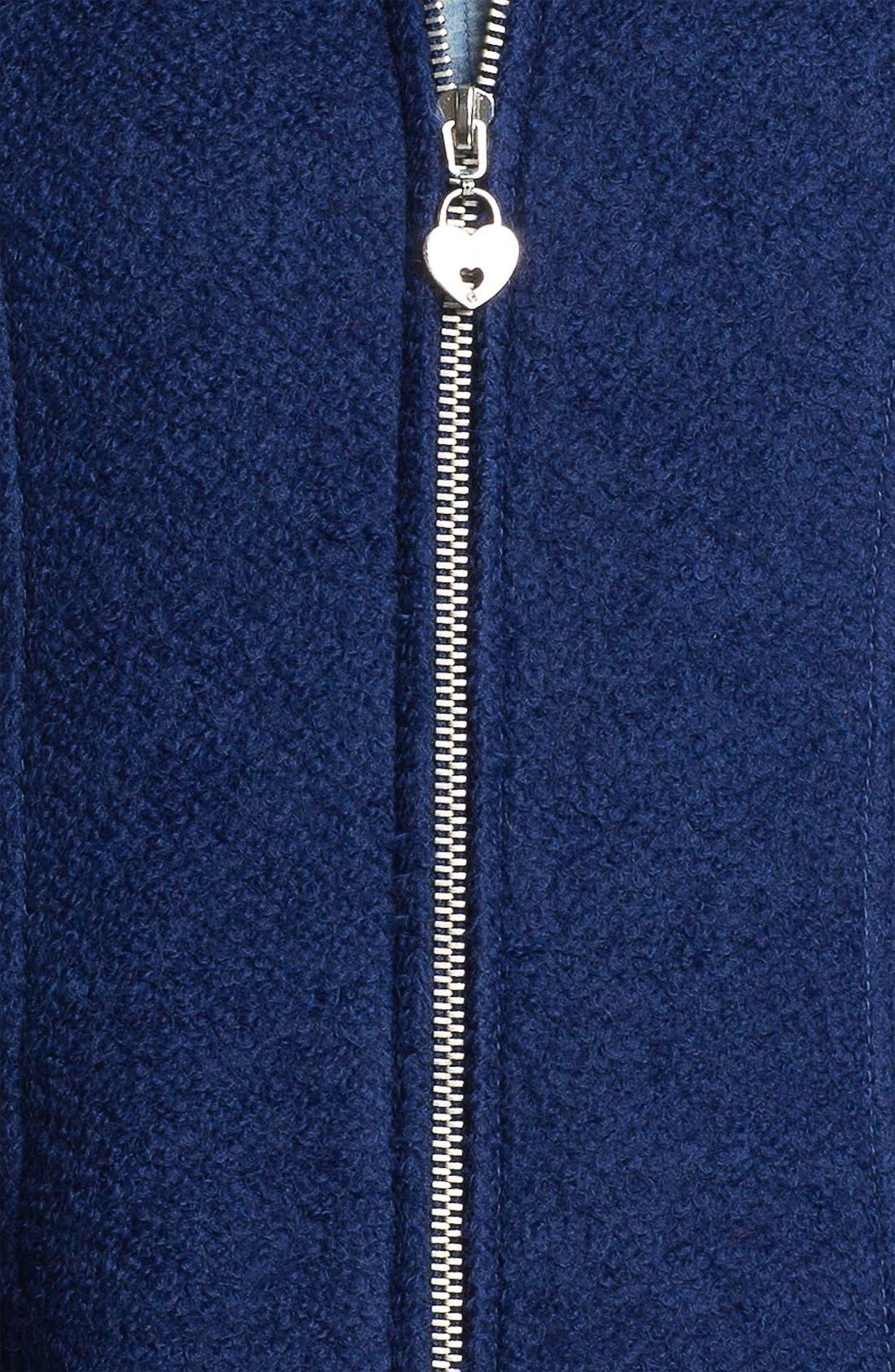 Alternate Image 3  - GUESS Bouclé Walking Coat (Petite) (Online Exclusive)