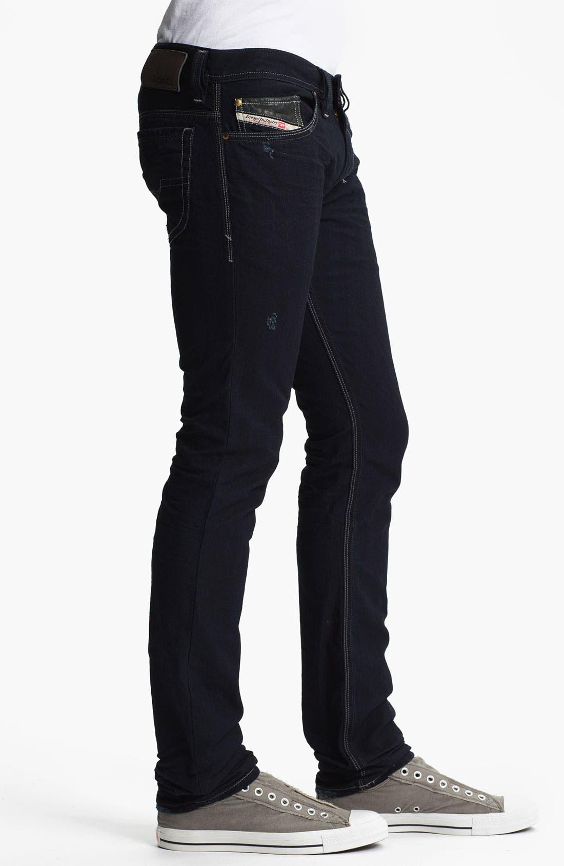 Alternate Image 3  - DIESEL® 'Thanaz' Slim Skinny Leg Jeans (0601K)