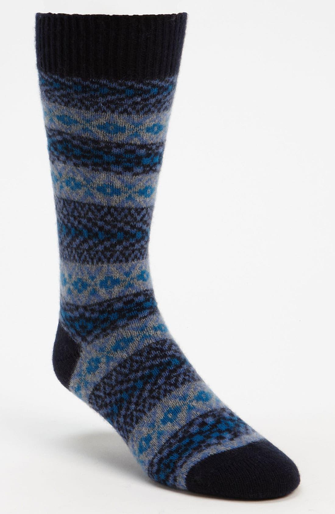 Main Image - Pantherella Fair Isle Cashmere Blend Socks