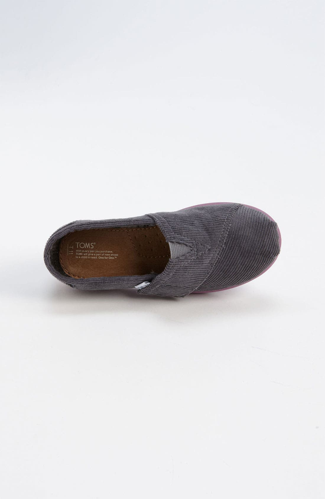 Alternate Image 3  - TOMS 'Classic - Tiny' Corduroy Slip-On (Baby, Walker & Toddler)