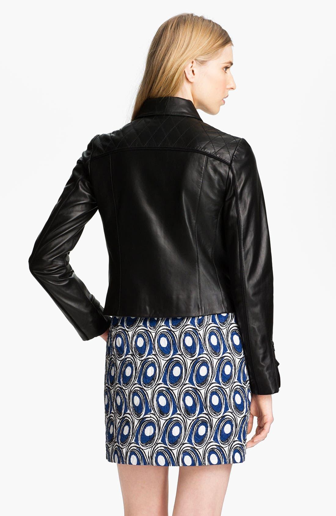 Alternate Image 4  - Miss Wu Leather Biker Jacket (Nordstrom Exclusive)