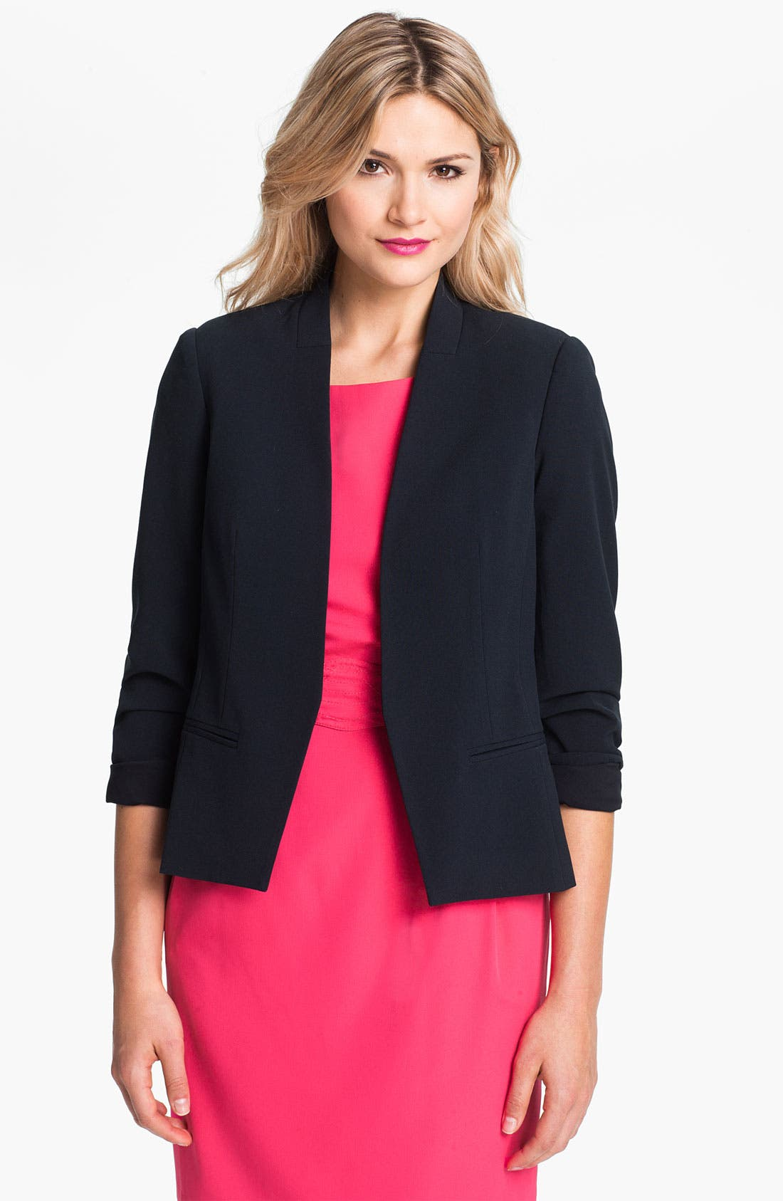 Alternate Image 1 Selected - Eliza J Collarless Open Blazer