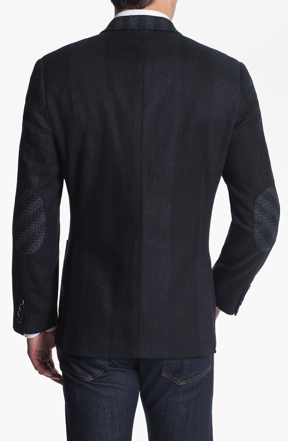Alternate Image 2  - Natural Blue Wool Sportcoat (Online Exclusive)