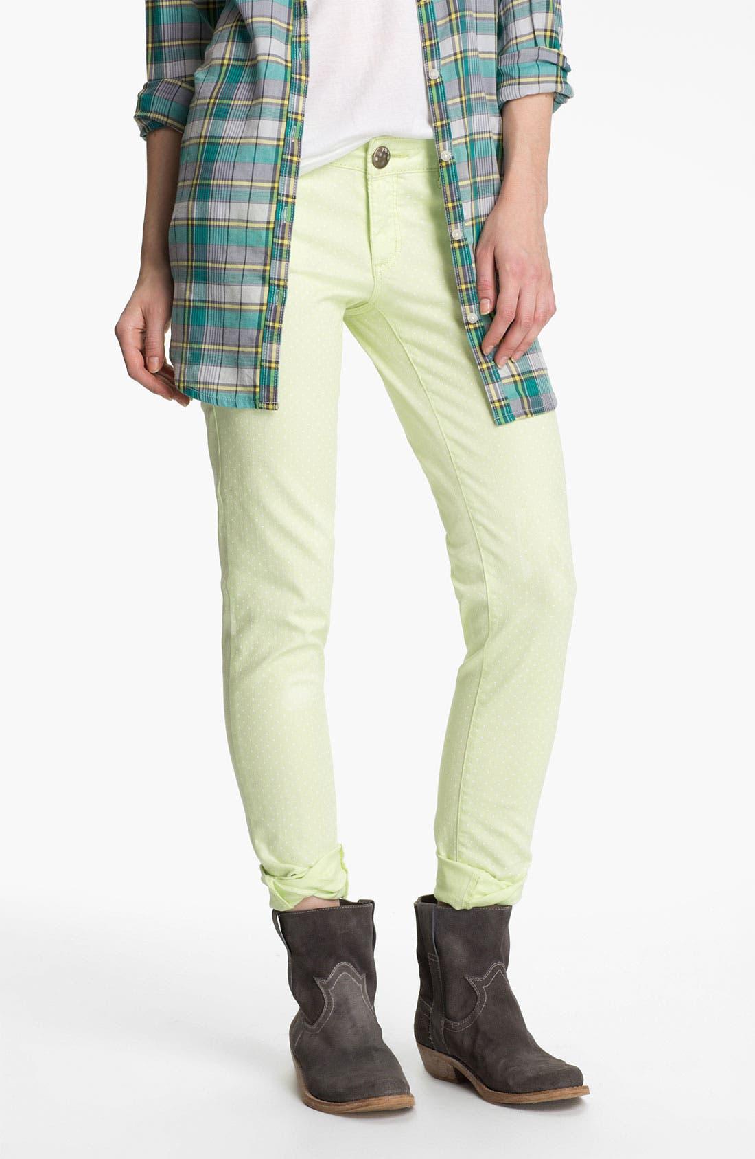 Alternate Image 2  - Jolt Polka Dot Skinny Jeans (Juniors)